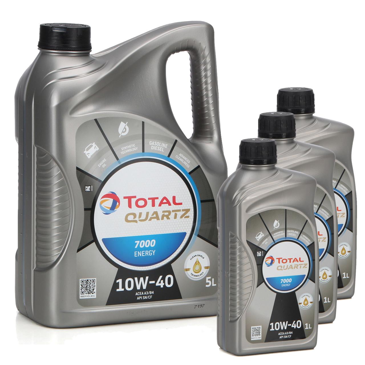 TOTAL QUARTZ 7000 ENERGY Motoröl Öl 10W-40 10W40 VW 501.01/505.00 - 8L 8 Liter