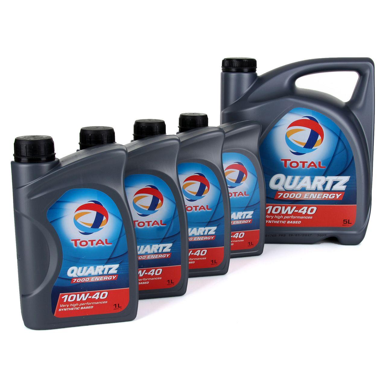 TOTAL QUARTZ 7000 ENERGY Motoröl Öl 10W-40 10W40 VW 501.01/505.00 - 9L 9 Liter