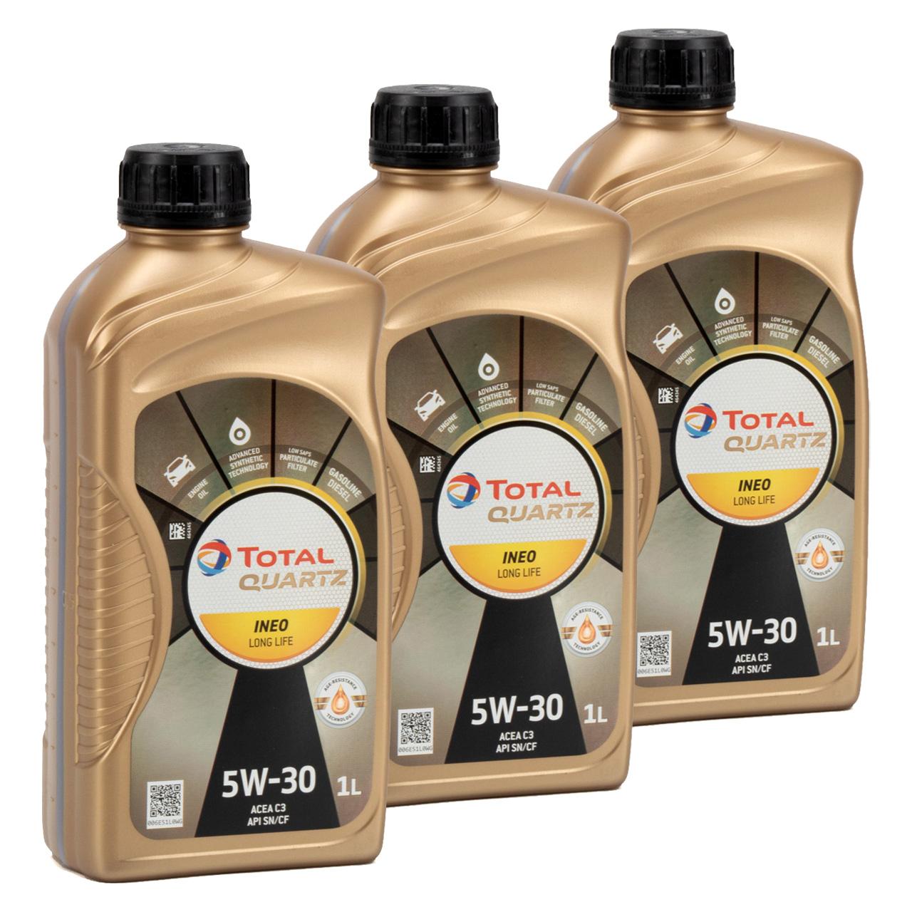 TOTAL QUARTZ INEO LONGLIFE 5W30 Motoröl Öl VW 504/507.00 MB 229.51 - 3L 3 Liter