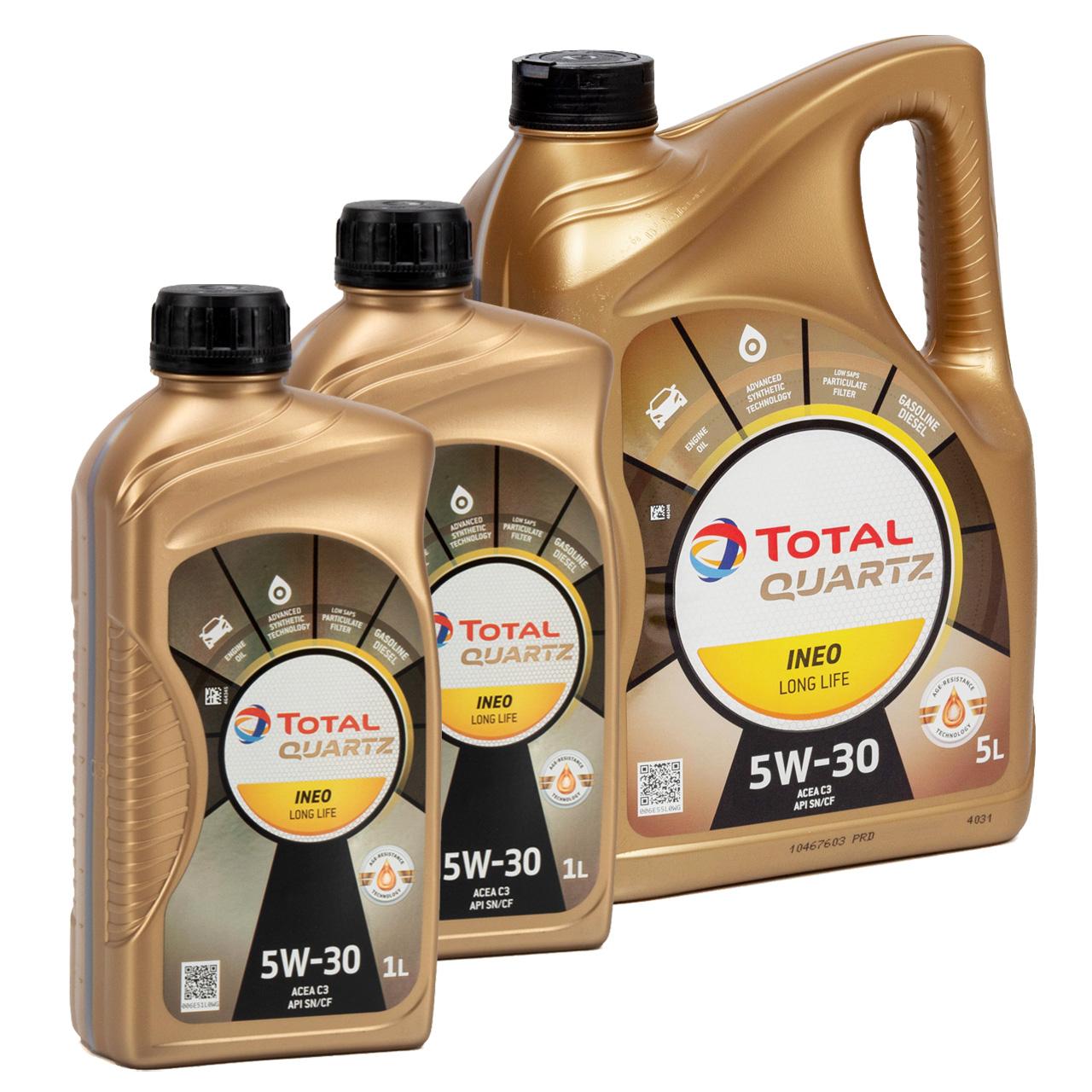TOTAL QUARTZ INEO LONGLIFE 5W30 Motoröl Öl VW 504/507.00 MB 229.51 - 7L 7 Liter