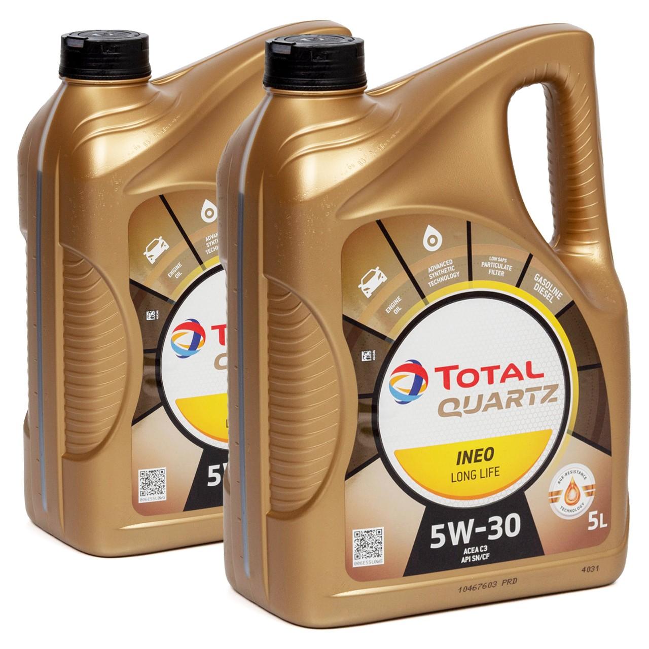 TOTAL QUARTZ INEO LONGLIFE 5W30 Motoröl Öl VW 504/507.00 MB 229.51 10L 10 Liter