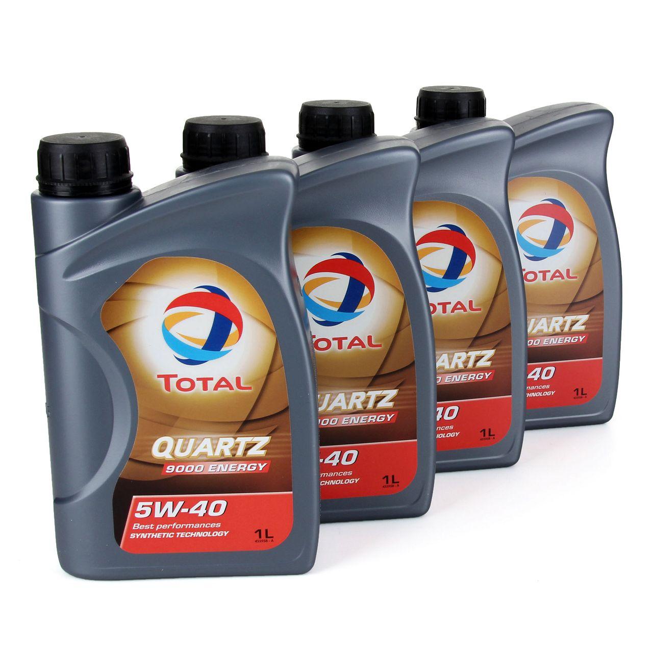 TOTAL QUARTZ 9000 ENERGY 5W-40 Motoröl BMW LL-01 MB 229.5 229.3 - 4 L 4 Liter