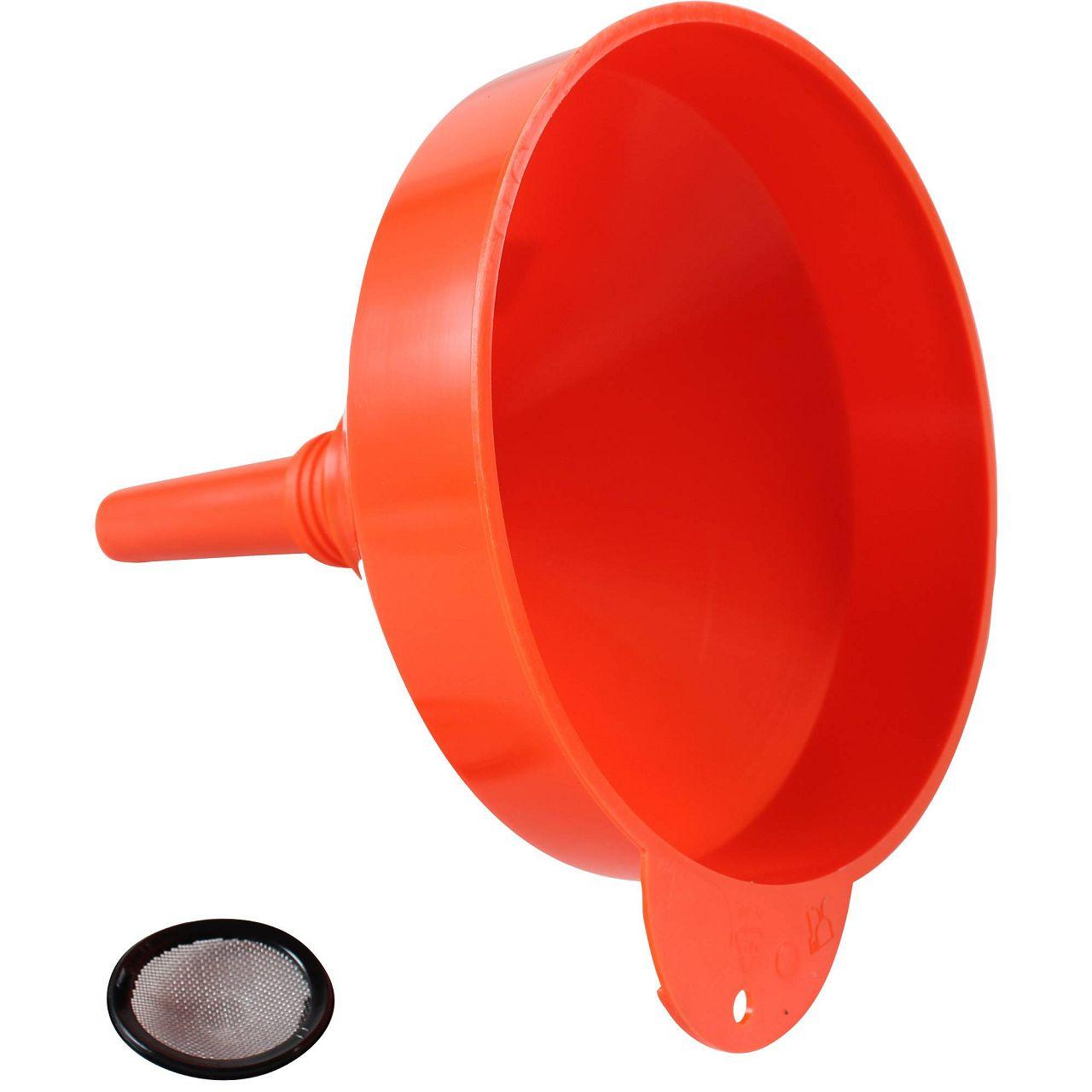 Trichter Einfülltrichter Nachfülltrichter mit Sieb ORANGE Durchmesser Ø 195 mm