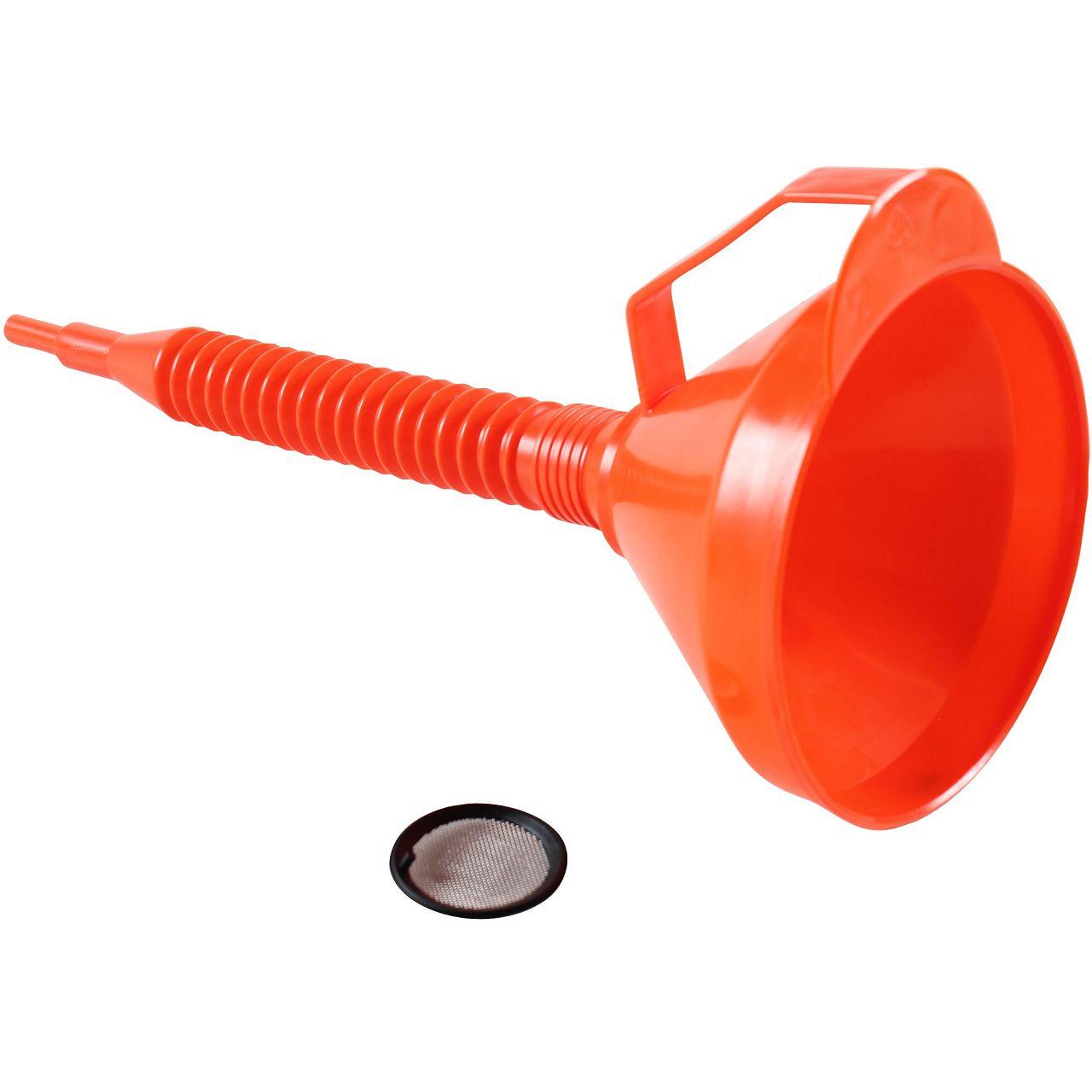 Trichter Einfülltrichter mit Sieb ORANGE Durchmesser Ø 160 mm flexibel