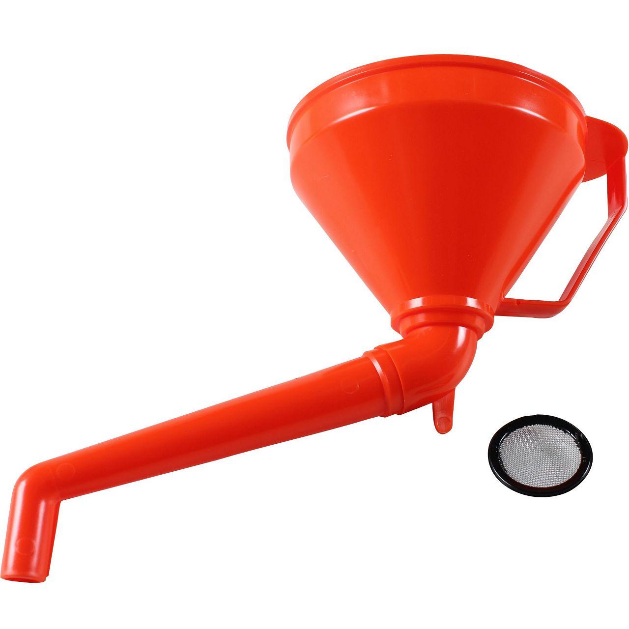 Trichter Einfülltrichter Nachfülltrichter mit Sieb ORANGE Durchmesser Ø 160 mm