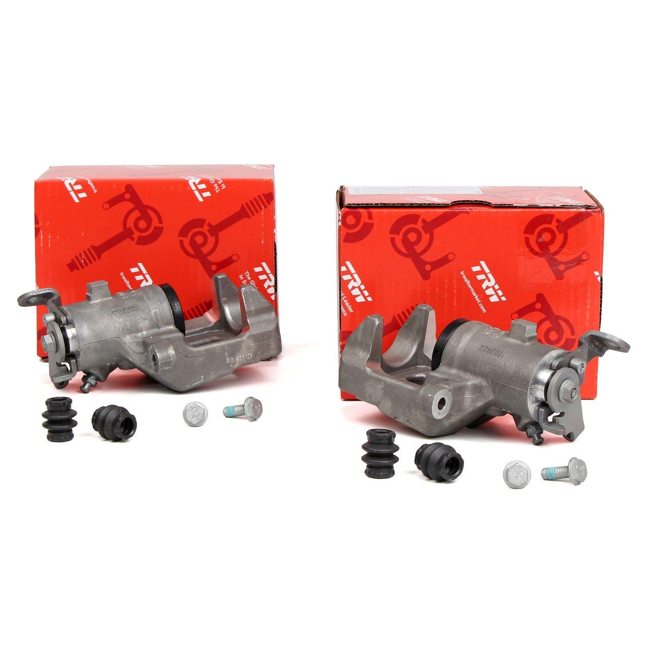 2x TRW BHQ281 + BHQ282 Bremssattel für RENAULT GRAND SCENIC II (EPACK) hinten