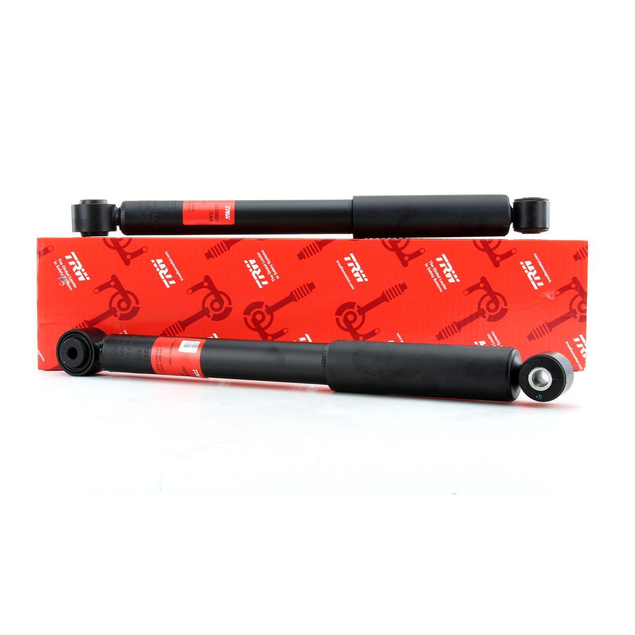 2x TRW Stoßdämpfer für VW CADDY III + IV Kasten / Kombi / ALLTRACK hinten