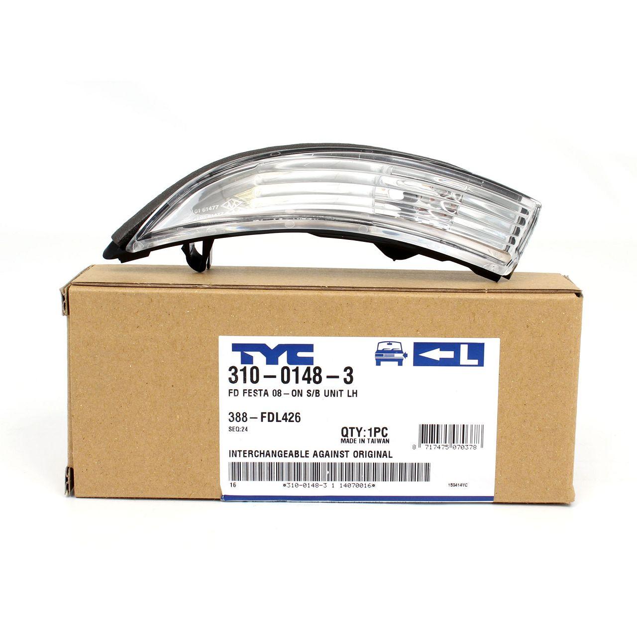TYC Blinkleuchte Blinker Außenspiegel für FORD B-MAX + FIESTA VI MK6 links