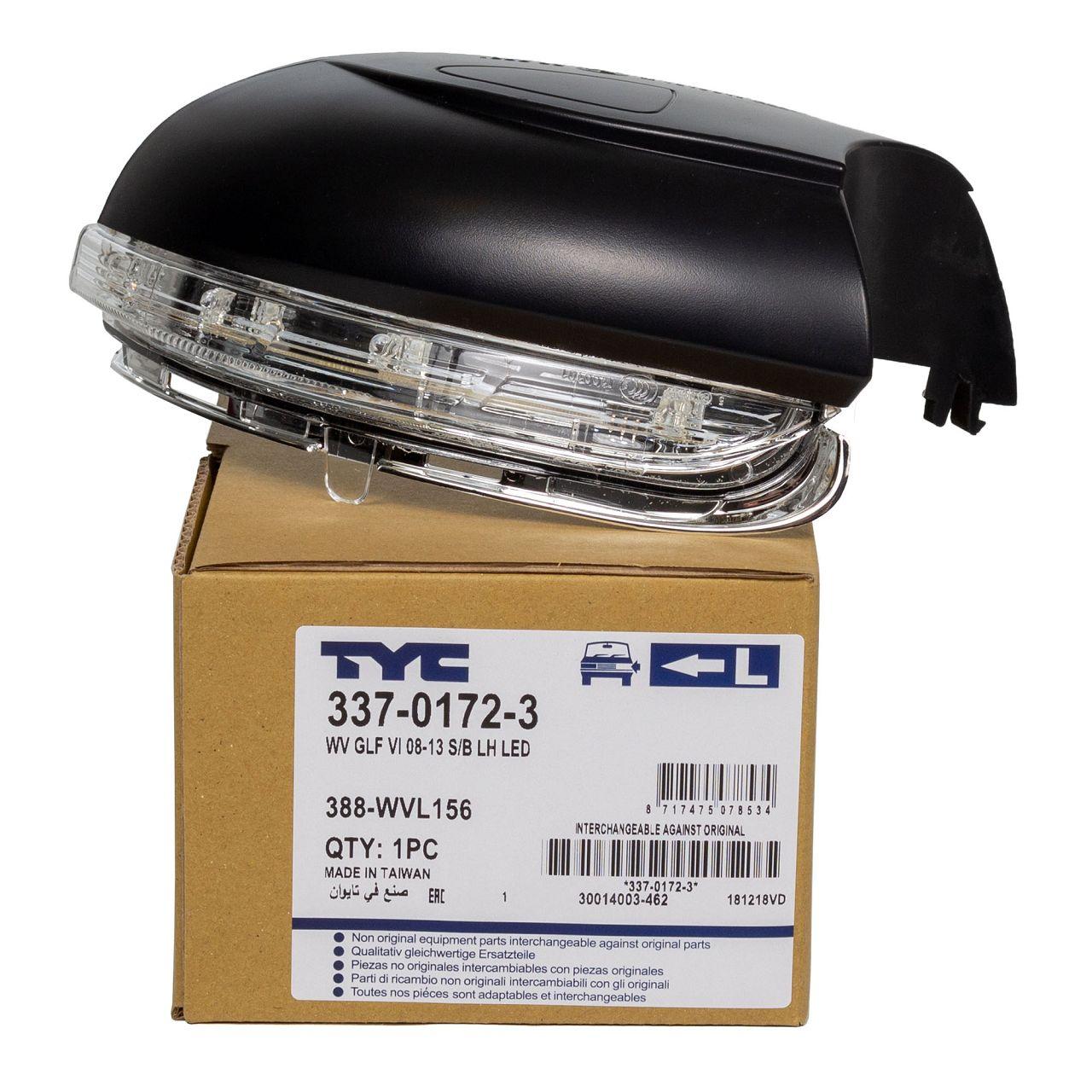 TYC Blinkleuchte Außenspiegel LED für VW Golf 6 Touran 1T1-1T3 links 5K0949101