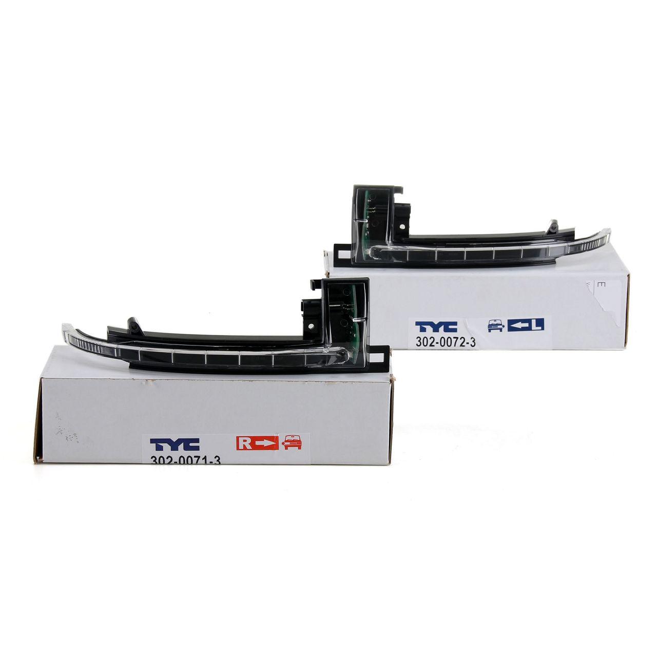 2x TYC Blinkleuchte Außenspiegel LED für AUDI A3 8P A4 B8 A5 8T A6 C6 A8 4E Q3