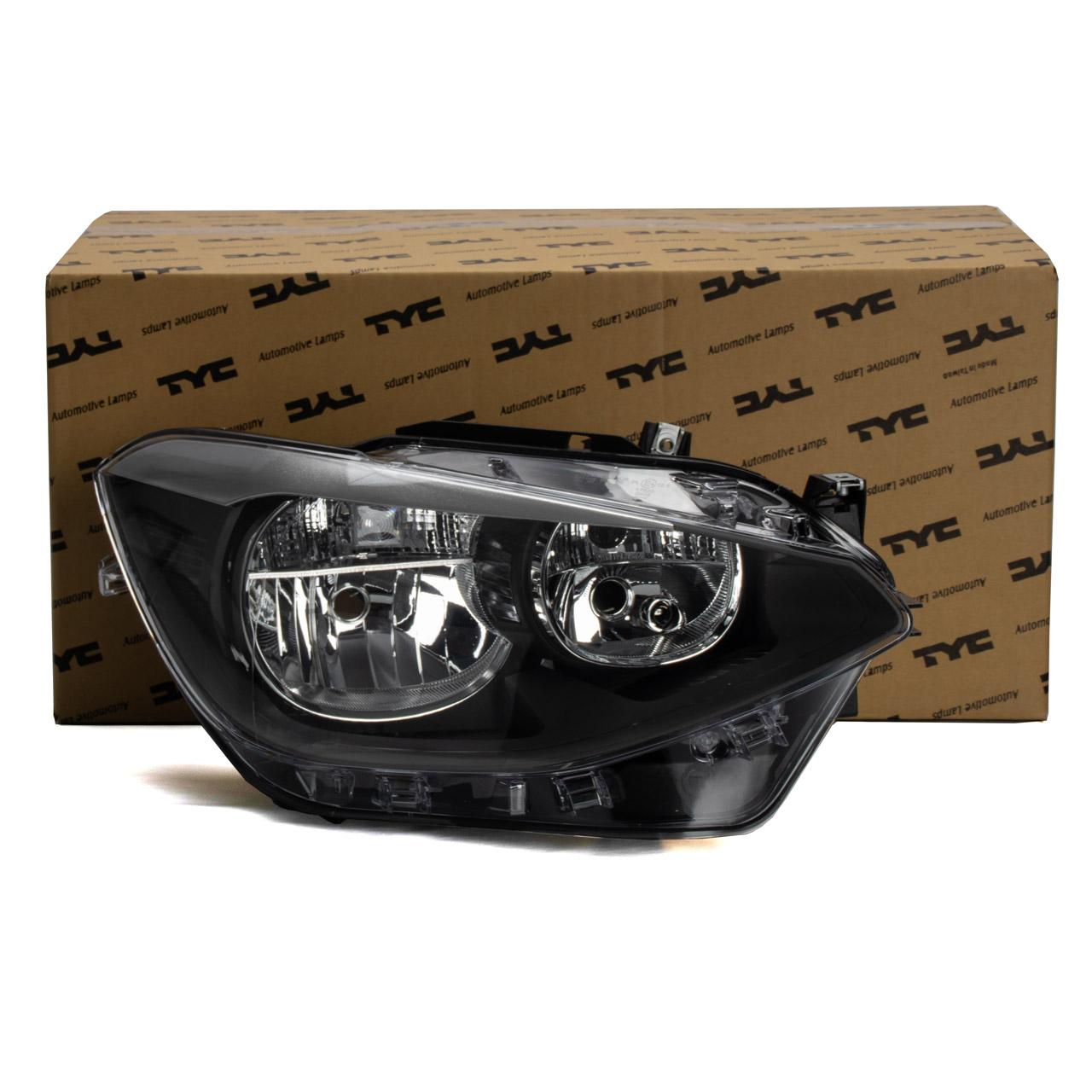 TYC Hauptscheinwerfer Scheinwerfer HALOGEN + LWR BMW 1er F20 F21 vorne rechts 63117229672