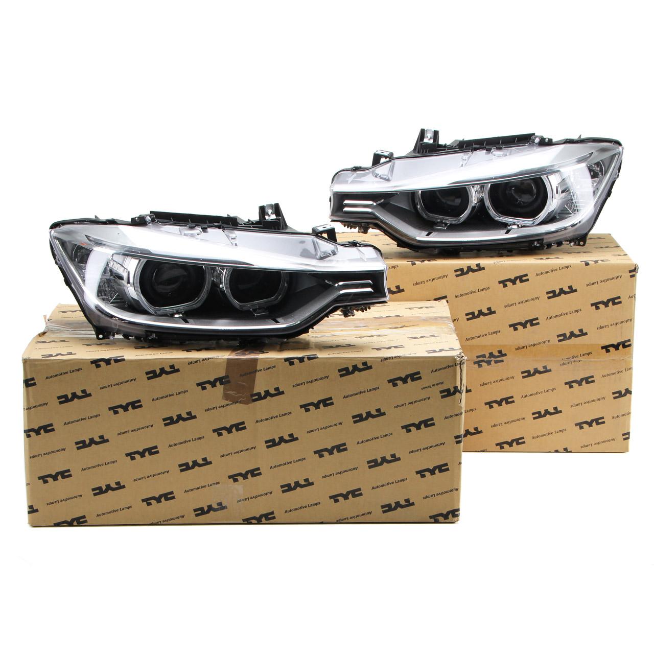 2x TYC Hauptscheinwerfer + Stellmotor D1S LED BMW 3er F30 F31 links + rechts