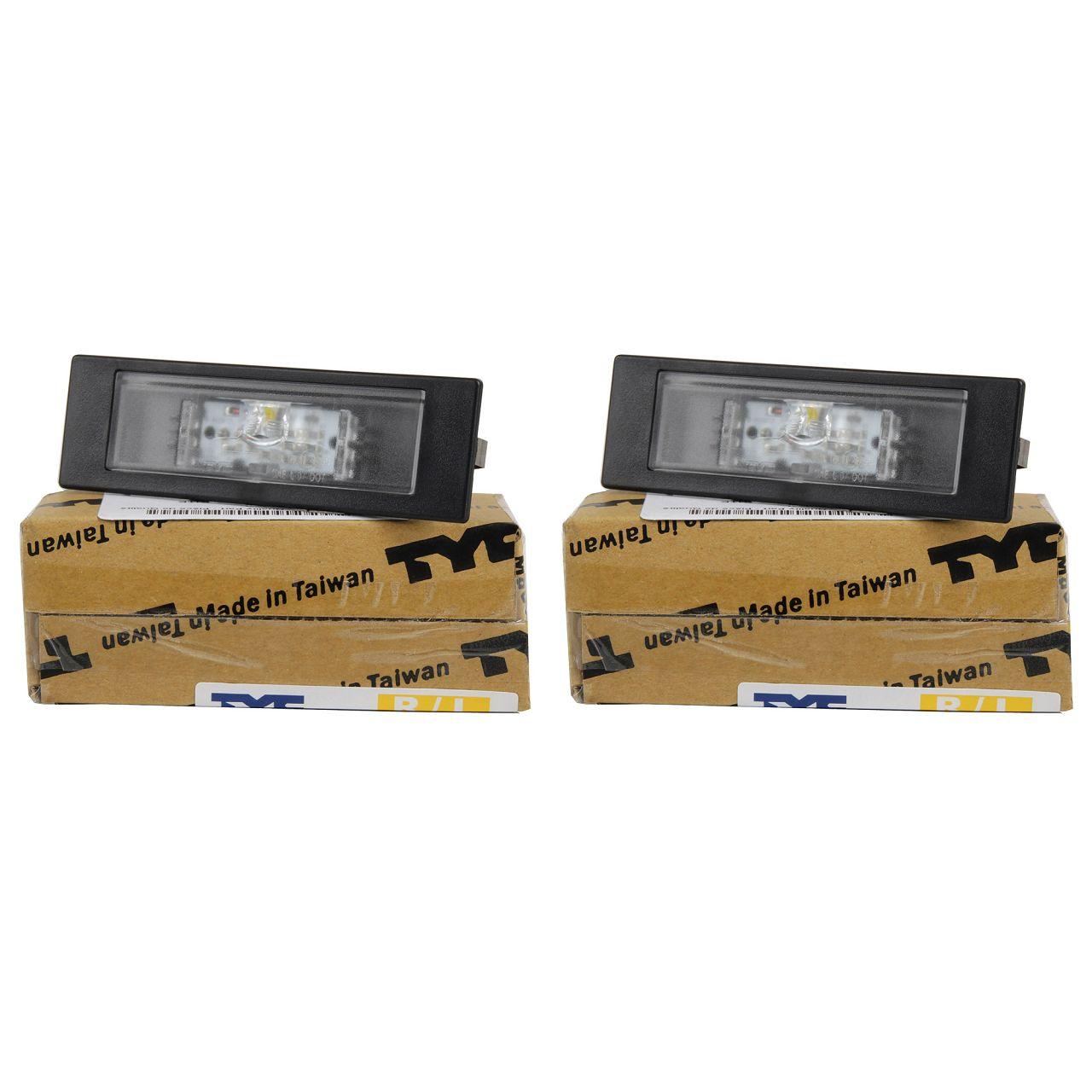 2x TYC Kennzeichenleuchte LED für BMW E81 E87 F20 F21 F12 F13 F06 Z4 E89 hinten
