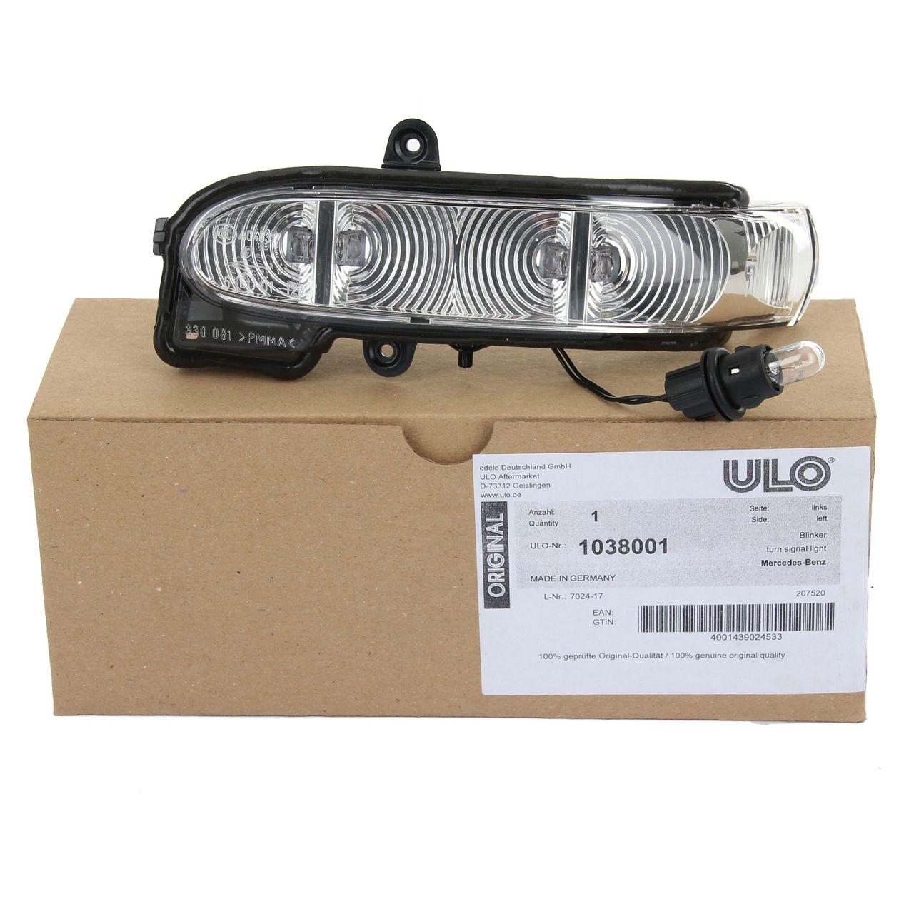 ULO Blinker Außenspiegel LED für MERCEDES E-KLASSE W211 S211 bis 2006 links