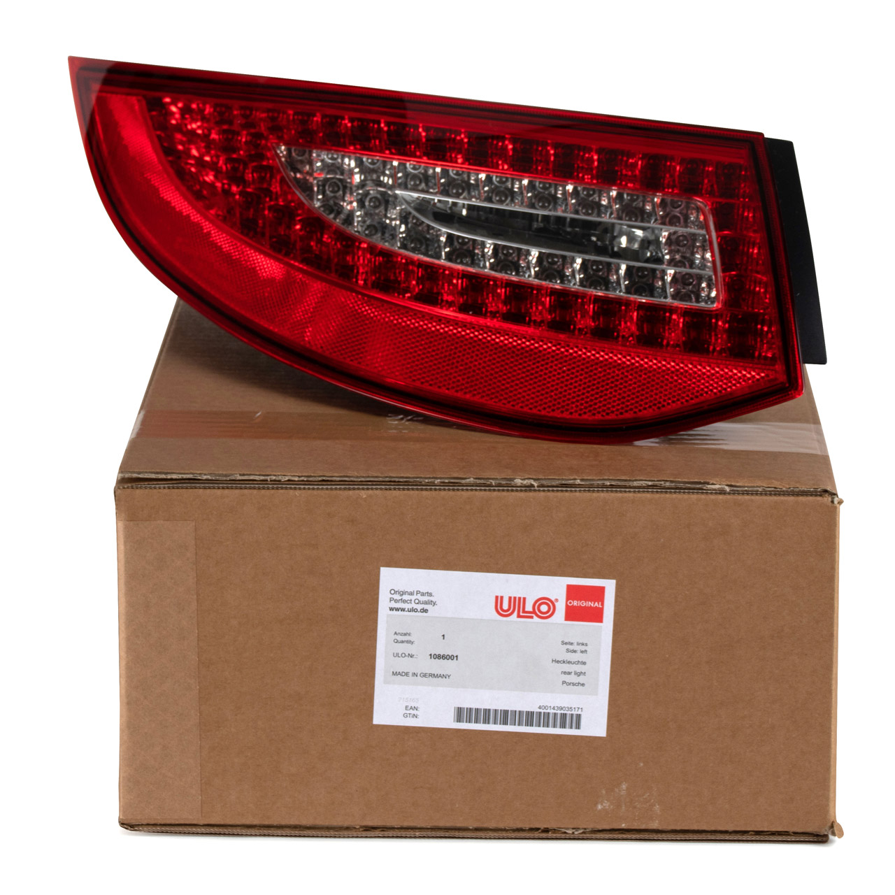 ULO Heckleuchte Rücklicht LED EU-Version für PORSCHE 997 FACELIFT ab 2008 links