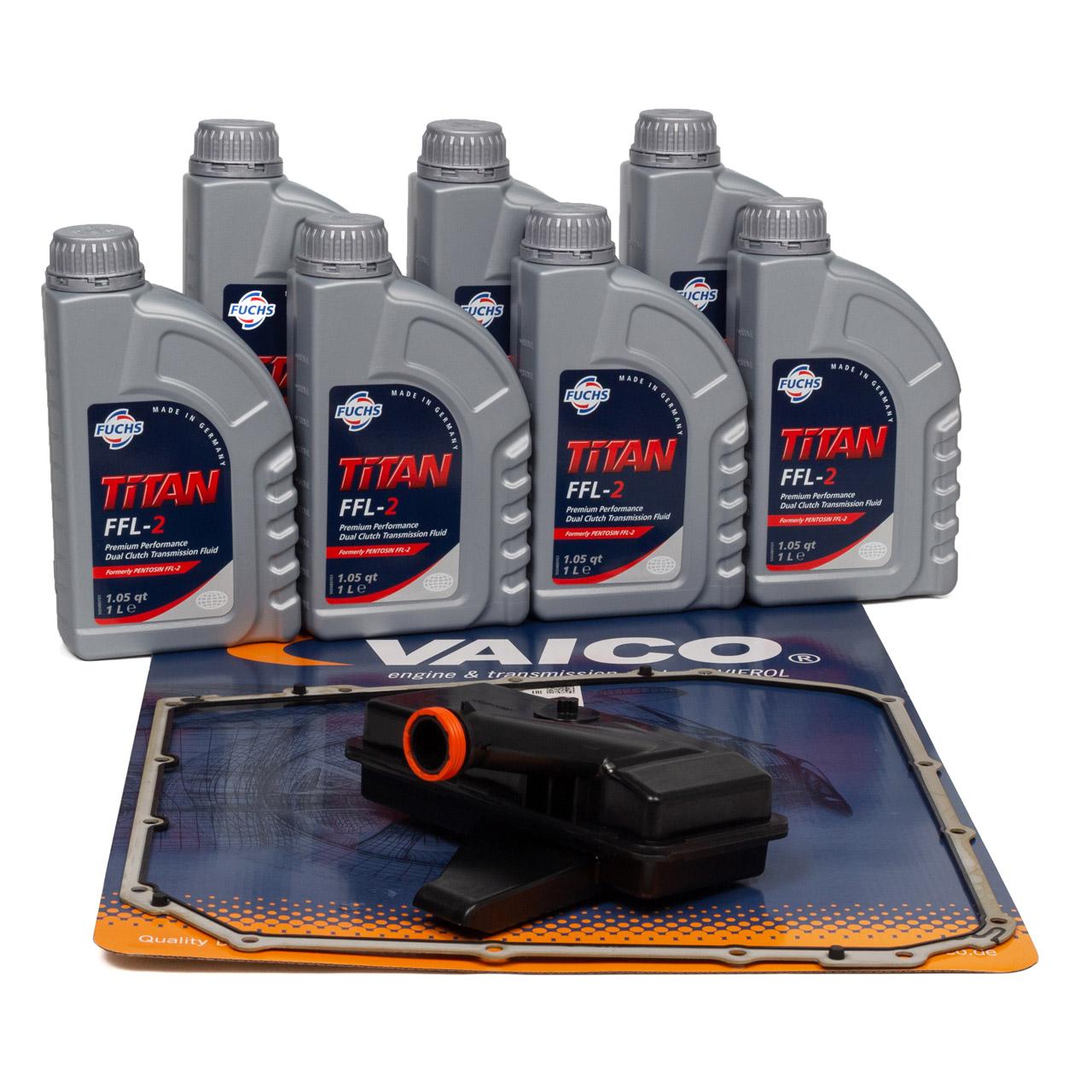 VAICO Hydraulikfilter 7-Gang S-Tronic DL501 + 7L FUCHS Pentosin Getriebeöl FFL-2