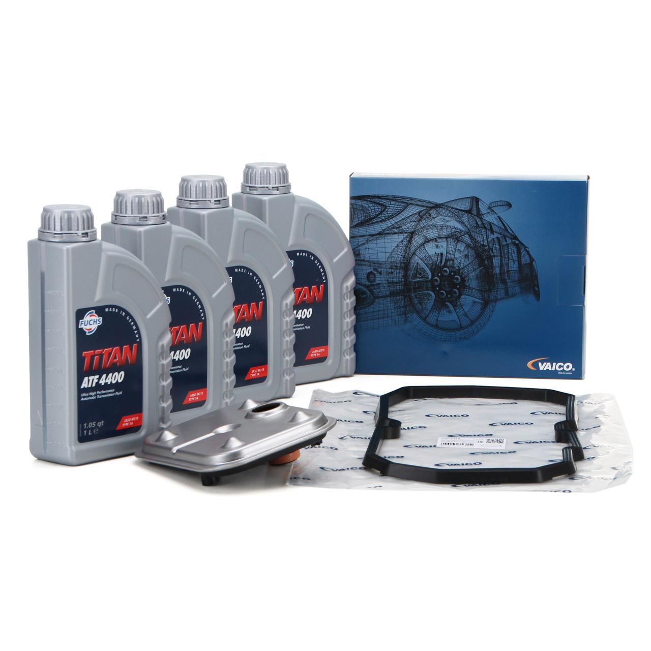 VAICO Hydraulikfilter Automatik + 4L FUCHS Getriebeöl MERCEDES W168 Vaneo 722.7