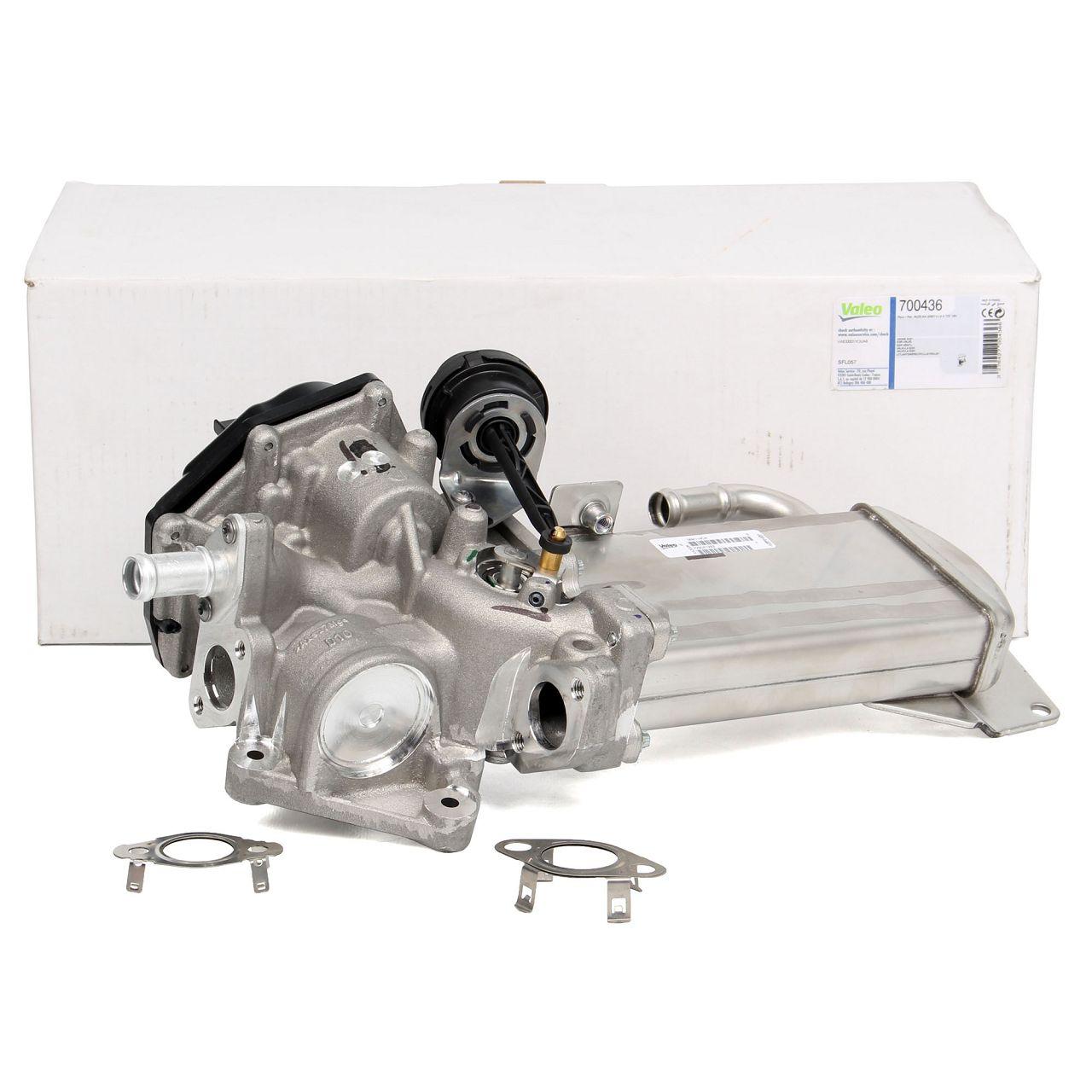 VALEO AGR Ventil Abgaskühler + Dichtungen AUDI A4 B8 A5 8T 8F A6 C7 Q5 8R 2.0 TDI