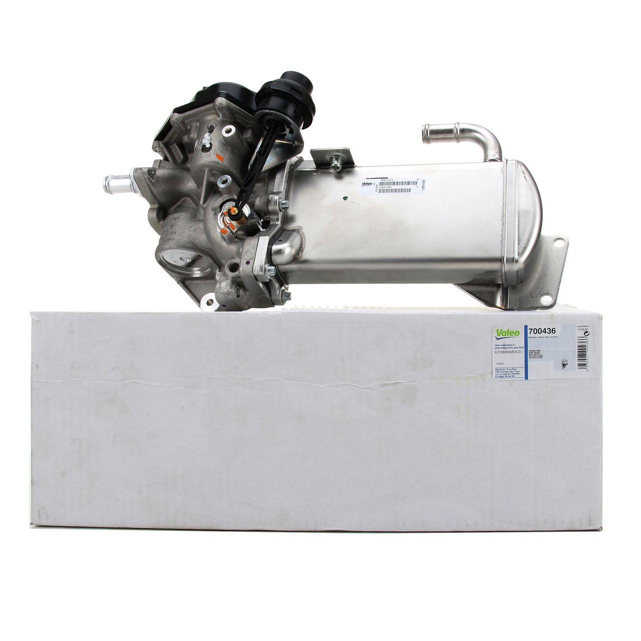 VALEO AGR Ventil Abgaskühler Kühlkörper AUDI A4 B8 A5 8T 8F A6 C7 Q5 8R 2.0 TDI 3L131512DT