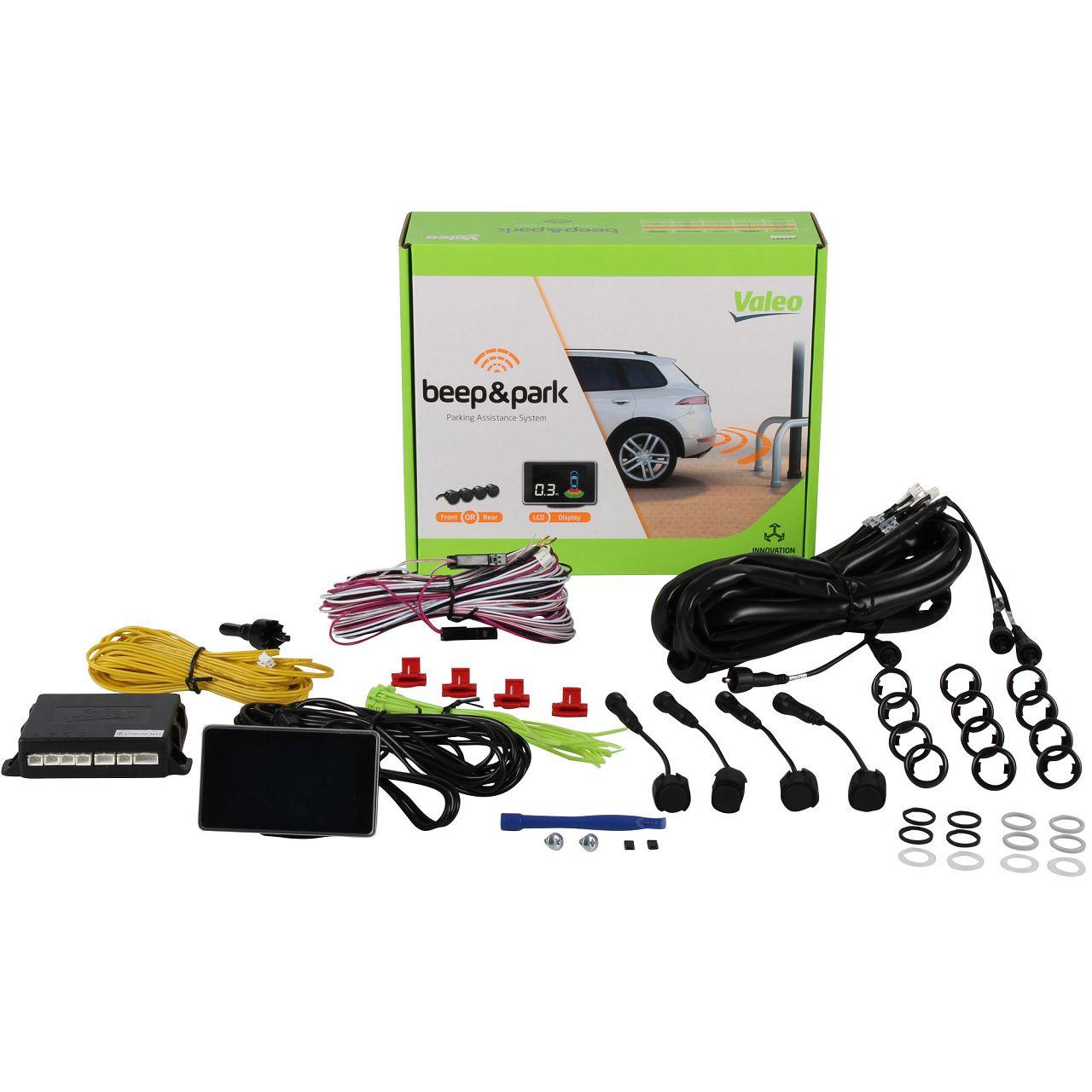 VALEO 632201 Beep&Park KIT Einparkhilfe mit 4 Sensoren und LCD Bildschirm
