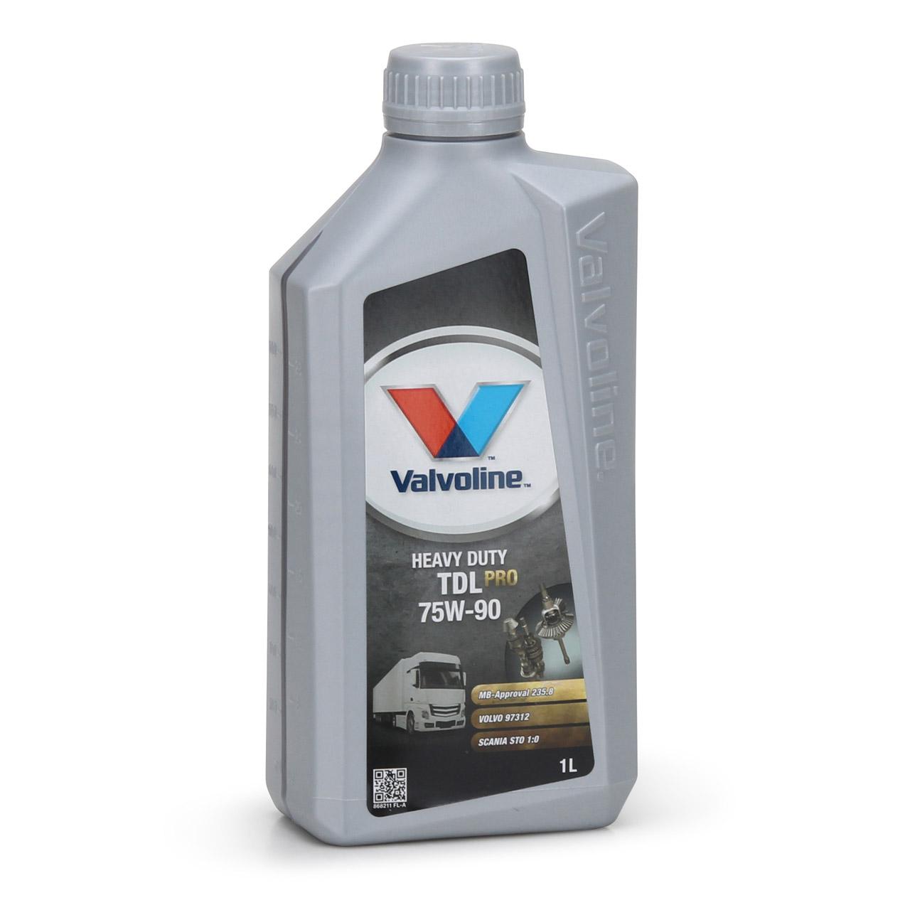 VALVOLINE Getriebeöl HEAVY DUTY TDL PRO 75W90 MB für VOLVO SCANIA - 1L 1 Liter