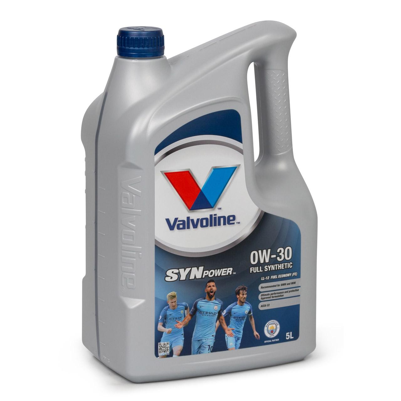VALVOLINE Motoröl ÖL SYNPOWER LL-12 FE 0W30 für BMW Longlife-12 FE - 5L 5 Liter