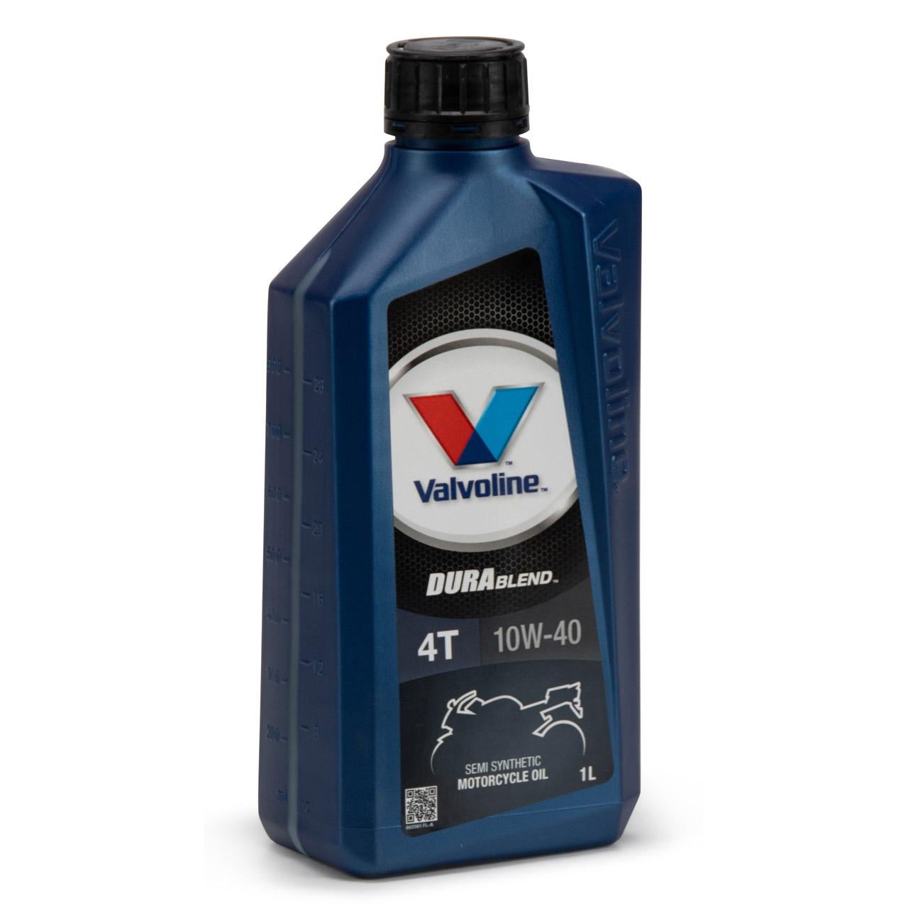 VALVOLINE Motoröl ÖL DURABLEND 4-TAKT 10W40 API SL JASO MA MA-2 - 1L 1 Liter