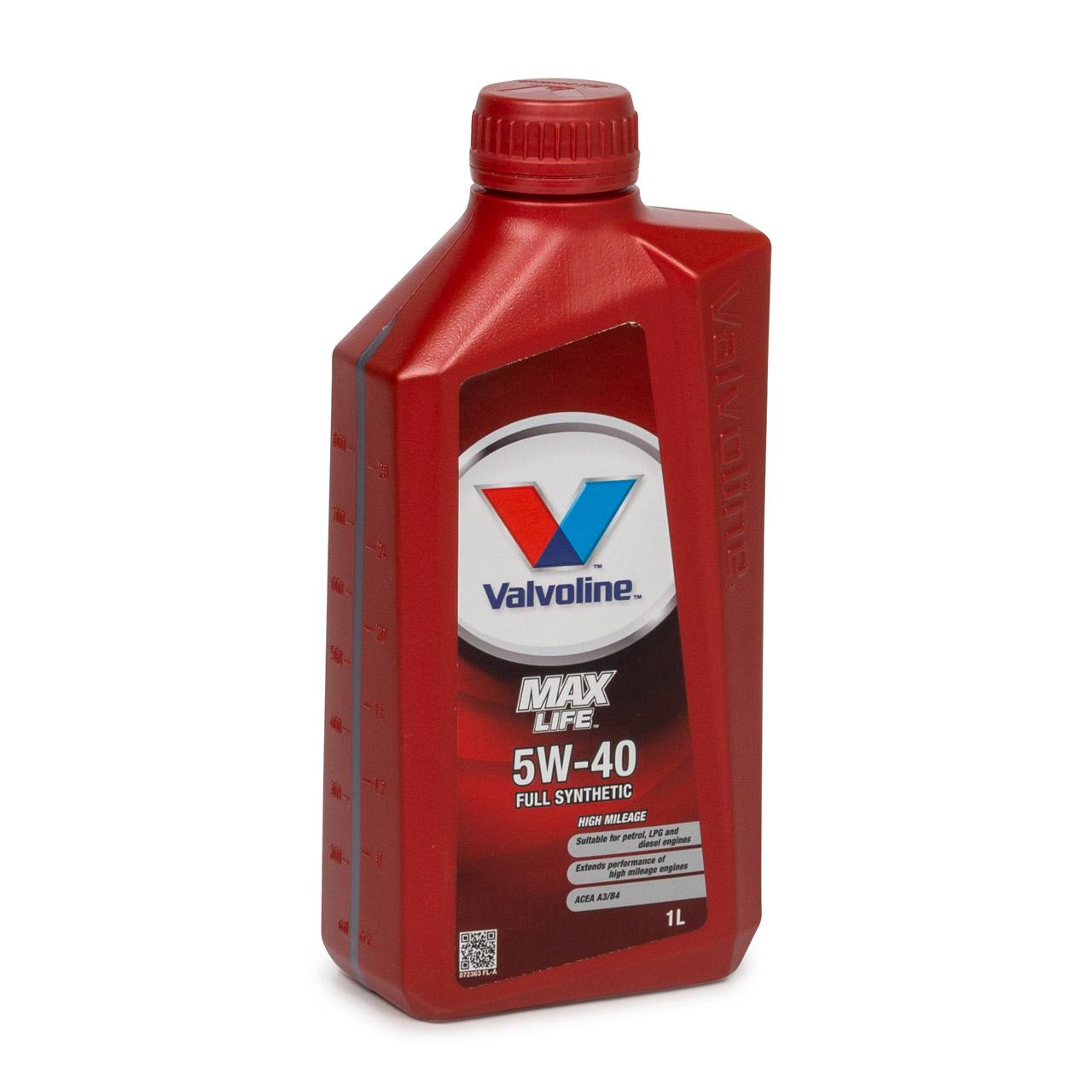 VALVOLINE Motoröl ÖL MAX LIFE 5W40 MB 229.3 VW 502/505.00 RN0700 RN0710 1 Liter