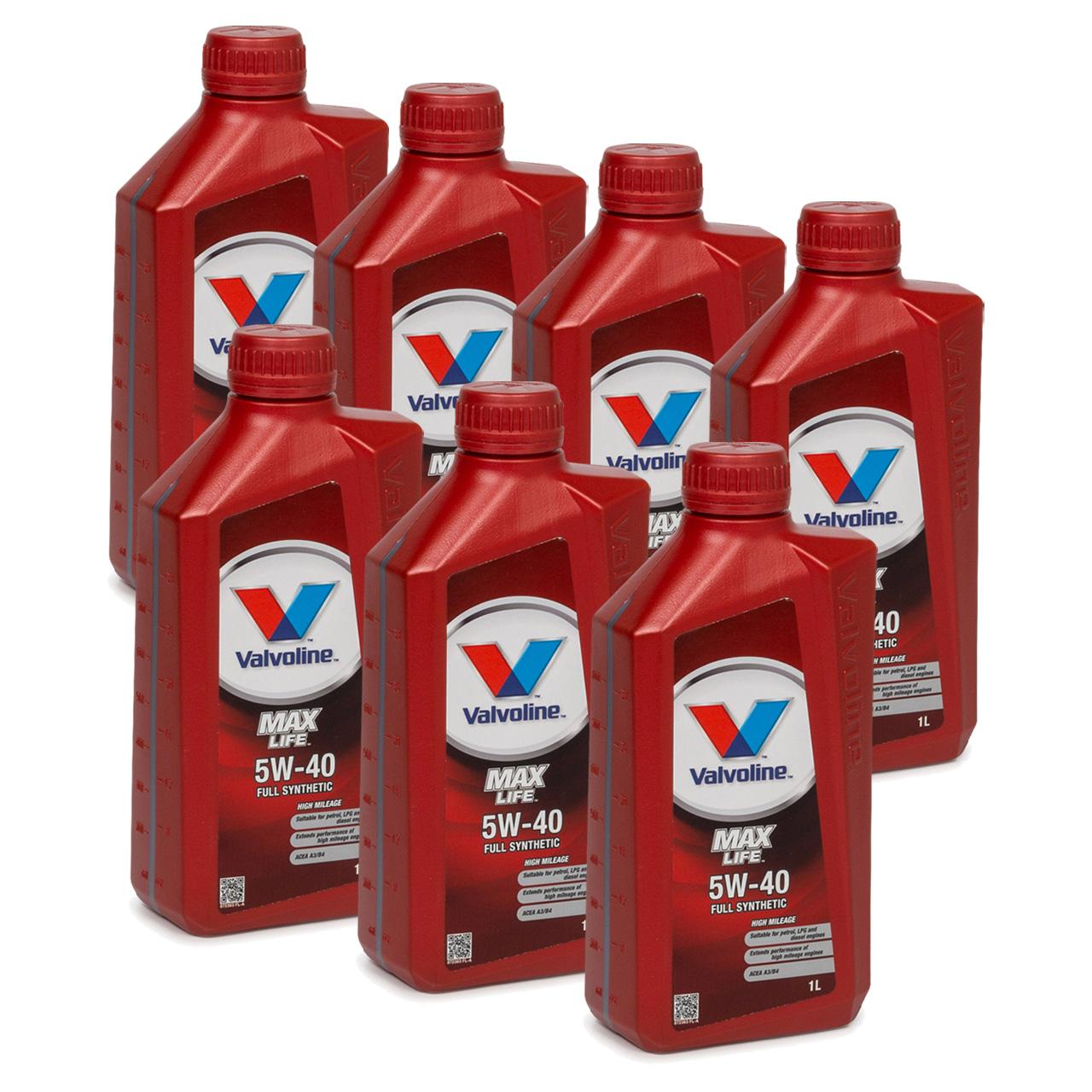 VALVOLINE Motoröl ÖL MAX LIFE 5W40 MB 229.3 VW 502/505.00 RN0700 RN0710 7 Liter