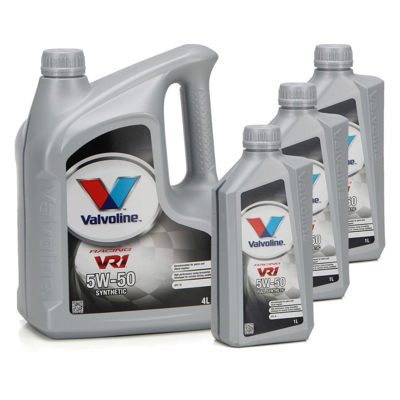 VALVOLINE Motoröl ÖL VR1 RACING 5W50 SM A3/B4 Ford M2C-153E GM 6094M - 7 Liter