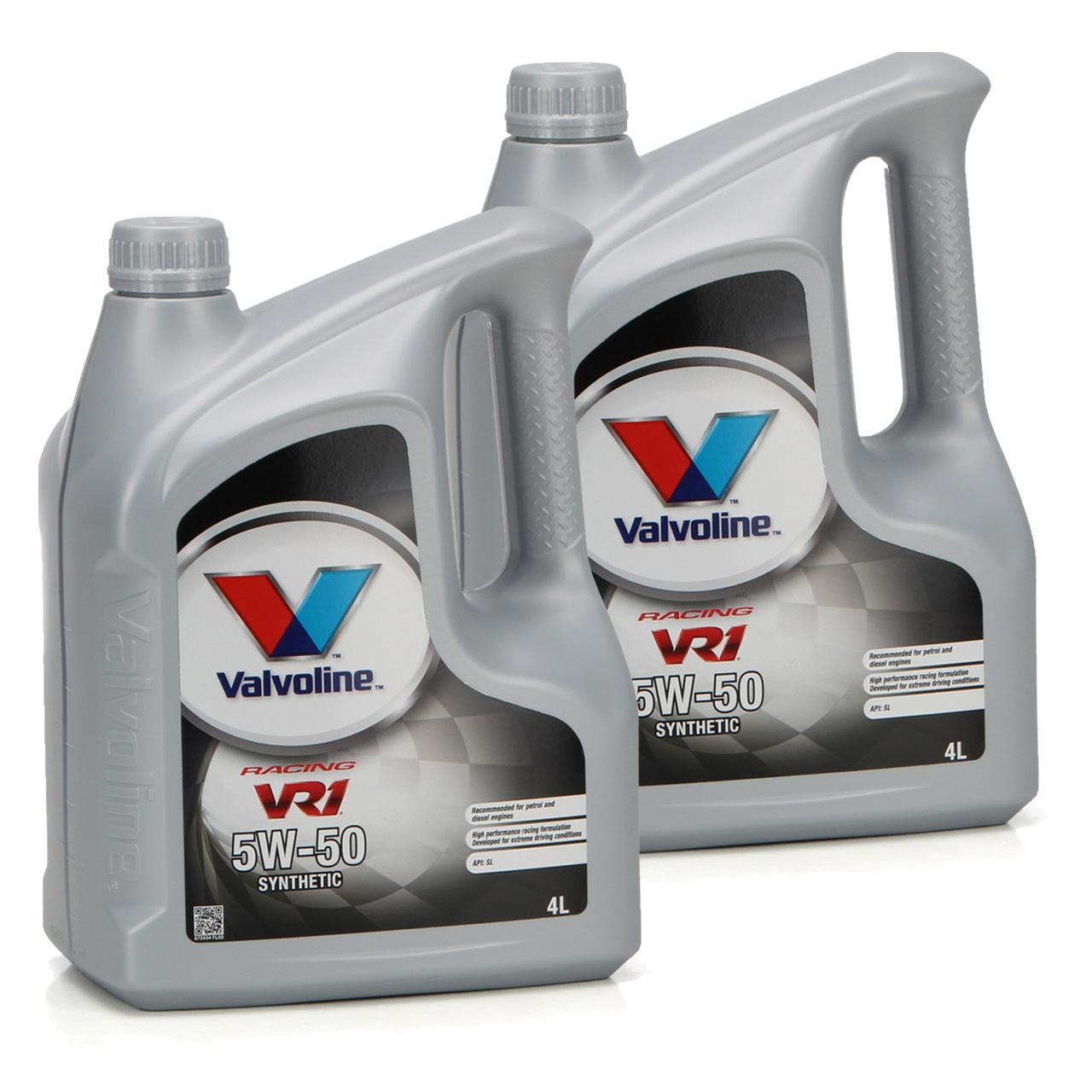 VALVOLINE Motoröl ÖL VR1 RACING 5W50 SM A3/B4 Ford M2C-153E GM 6094M - 8 Liter