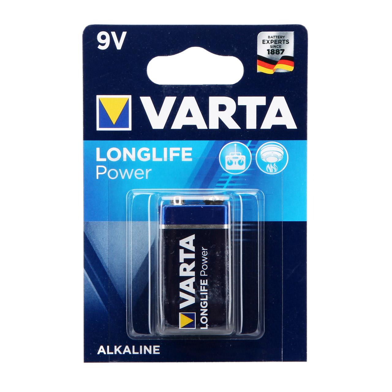 VARTA Batterie LONGLIFE POWER Alkaline E-Block 6LR61 9V