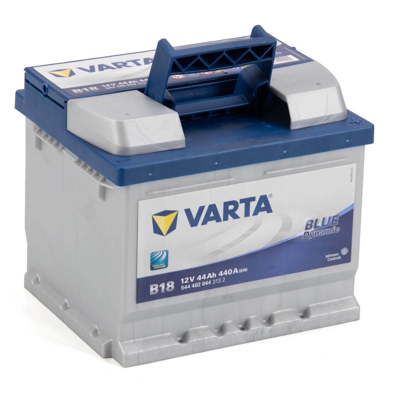 VARTA BLUE dynamic B18 Autobatterie Batterie Starterbatterie 12V 44Ah 440A