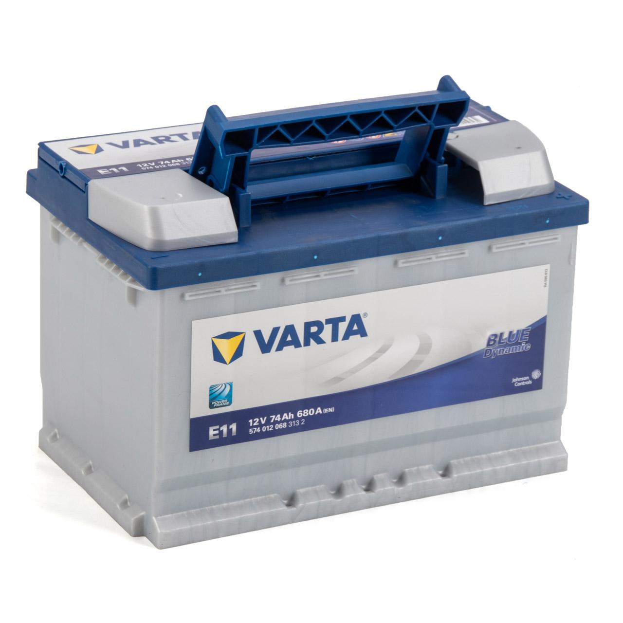VARTA BLUE dynamic E11 Autobatterie Batterie Starterbatterie 12V 74Ah 680A