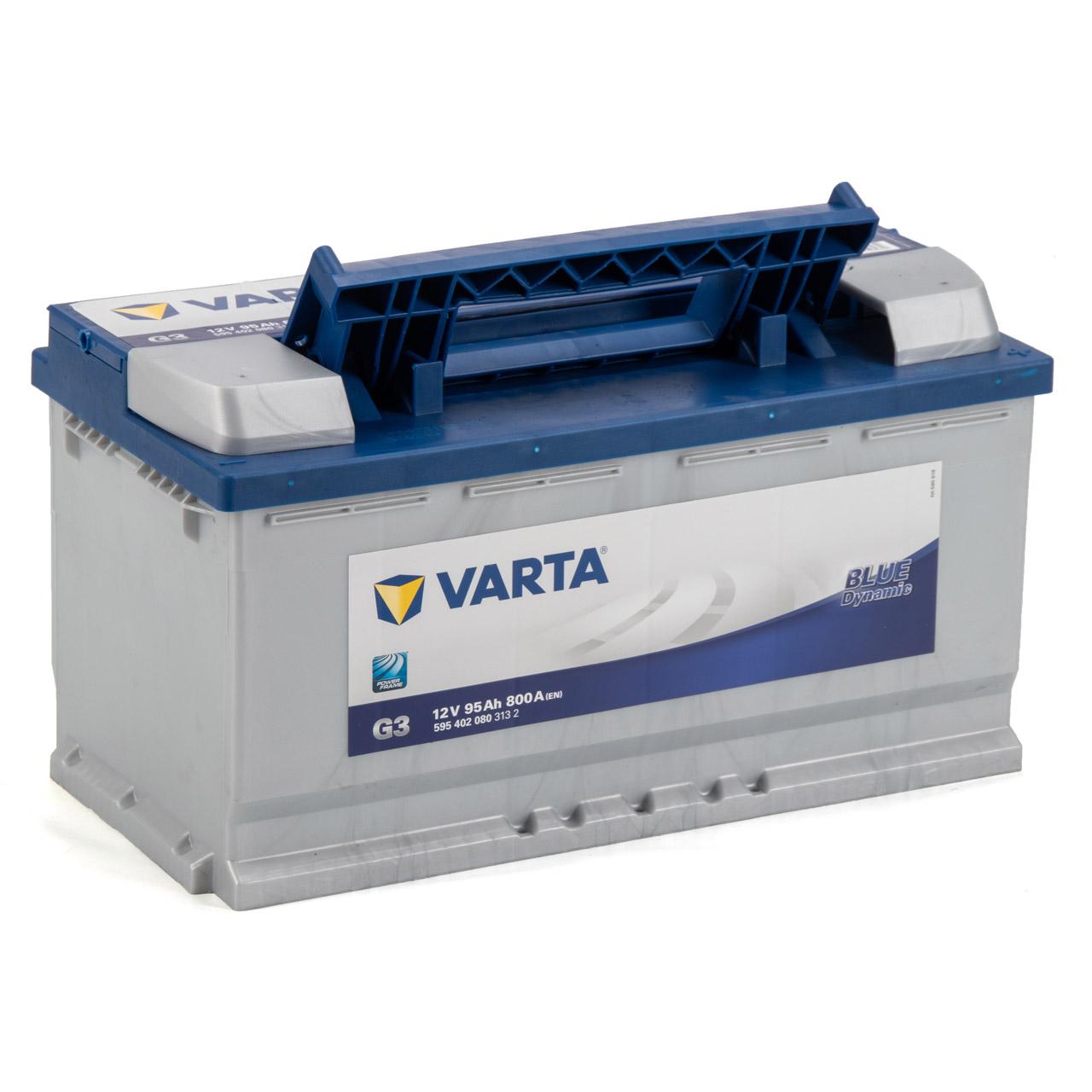 VARTA BLUE dynamic G3 Autobatterie Batterie Starterbatterie 12V 95Ah 800A