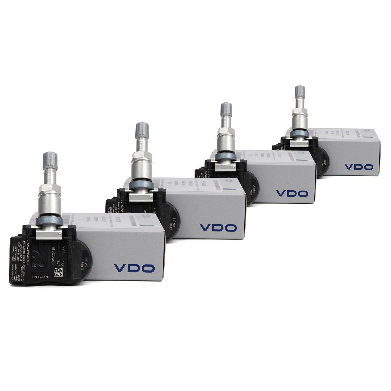 4x VDO Radsensor RDKS TPMS Reifendrucksensor Qashqai X-Trail Koleos S180052048Z