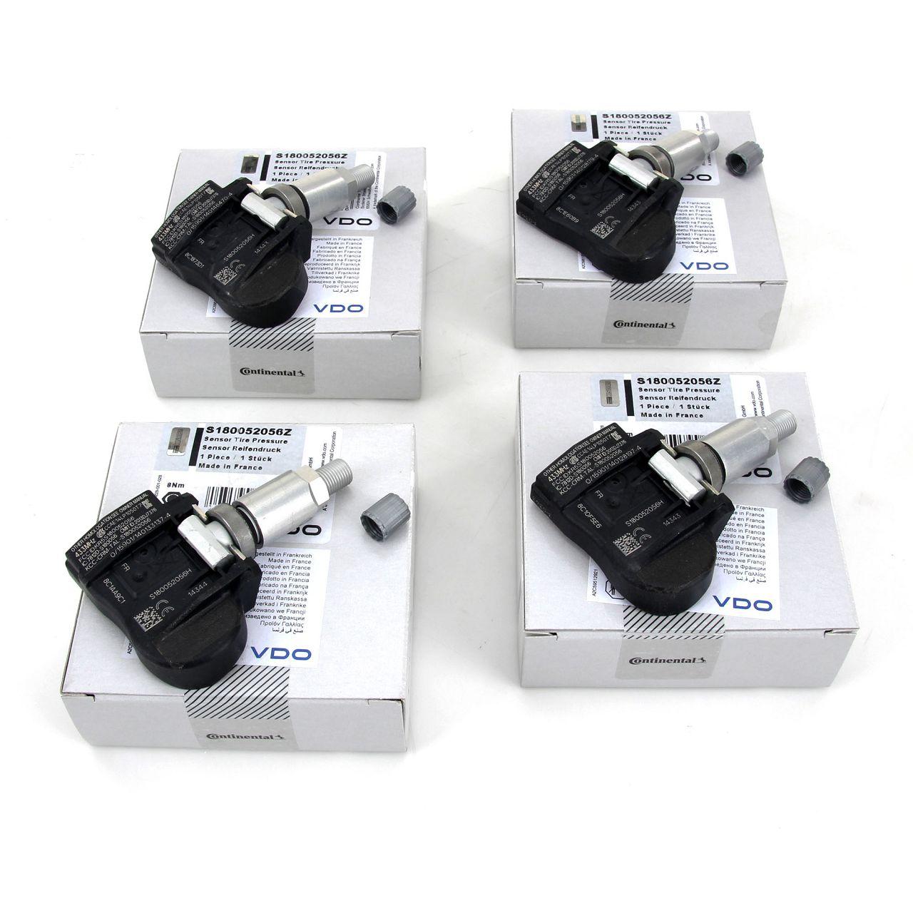 4x VDO Reifendrucksensor S180052056Z Luftdrucksensor RDKS für BMW 1ER 3ER 4ER X5