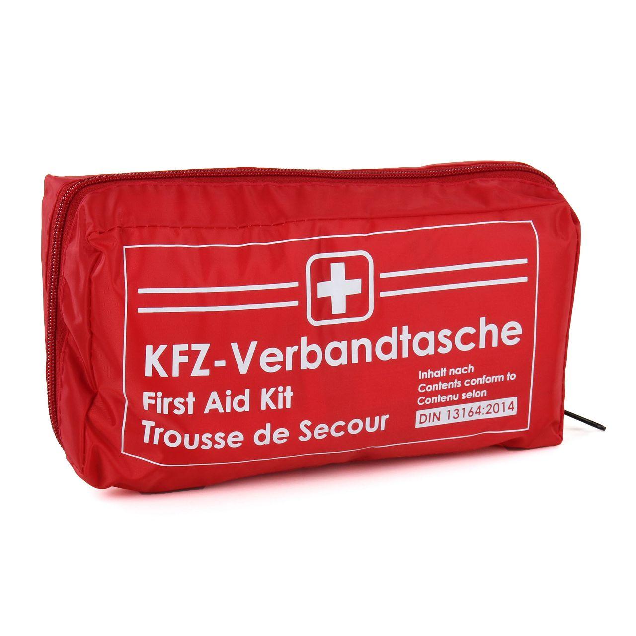 KFZ Auto Verbandkasten Verbandskasten ROT Erste Hilfe DIN 13164 (MHD 06.2025)