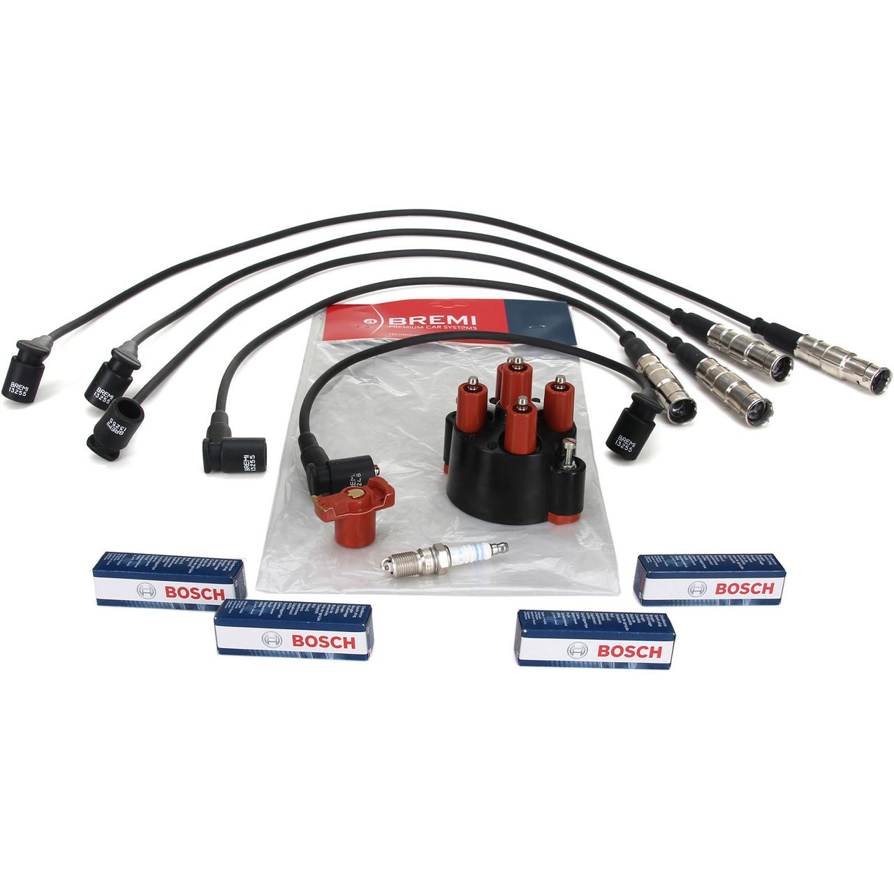 BREMI 6007 Verteilerkappe Finger Kabelsatz BOSCH Zündkerze für MERCEDES W201 E 2.0
