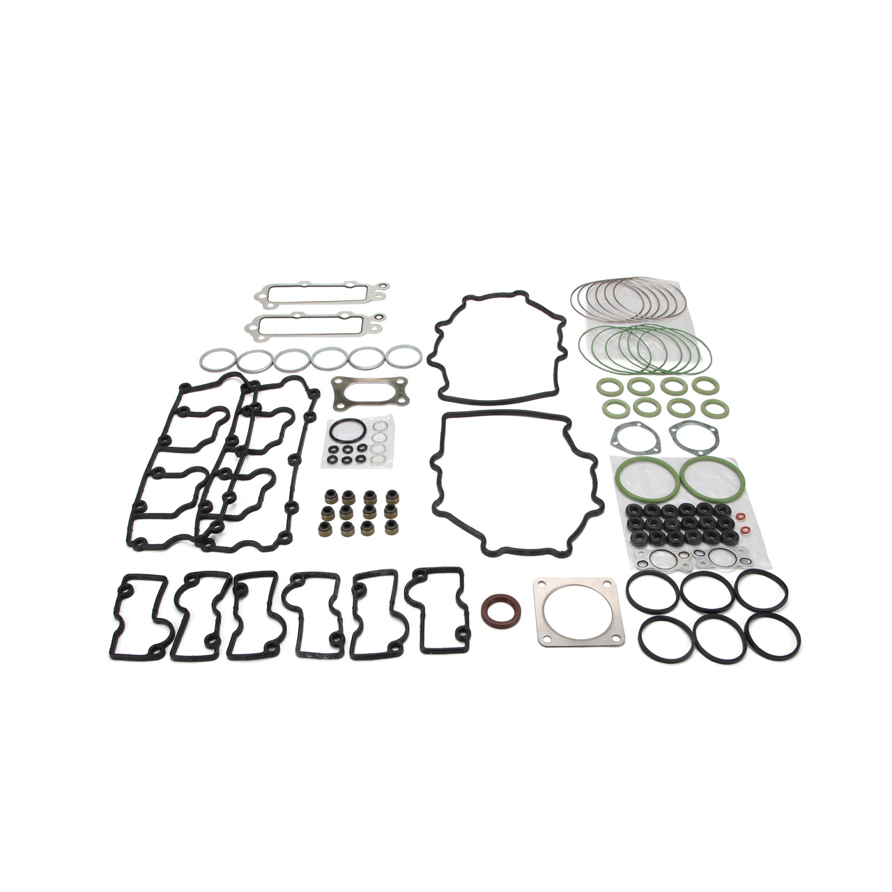 REINZ Dichtungssatz + 6x MAHLE Kolbenringsatz für PORSCHE 911 964 3.6 Carrera/RS