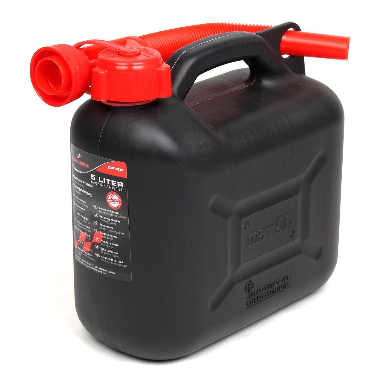 WALSER 16372 Kanister Benzinkanister Reservekanister Kraftstoffkanister 5Liter