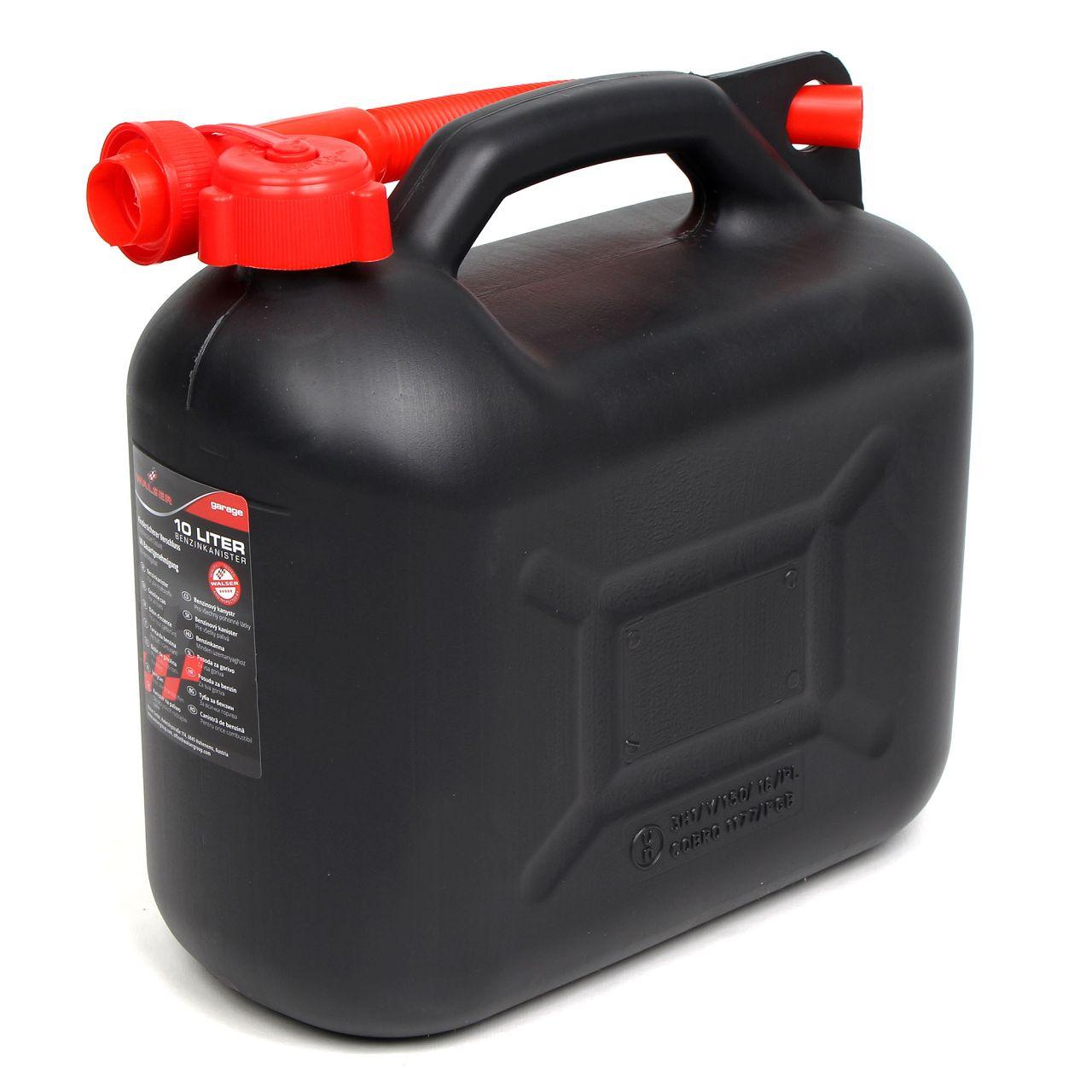 WALSER 16373 Kanister Benzinkanister Reservekanister Kraftstoffkanister 10Liter