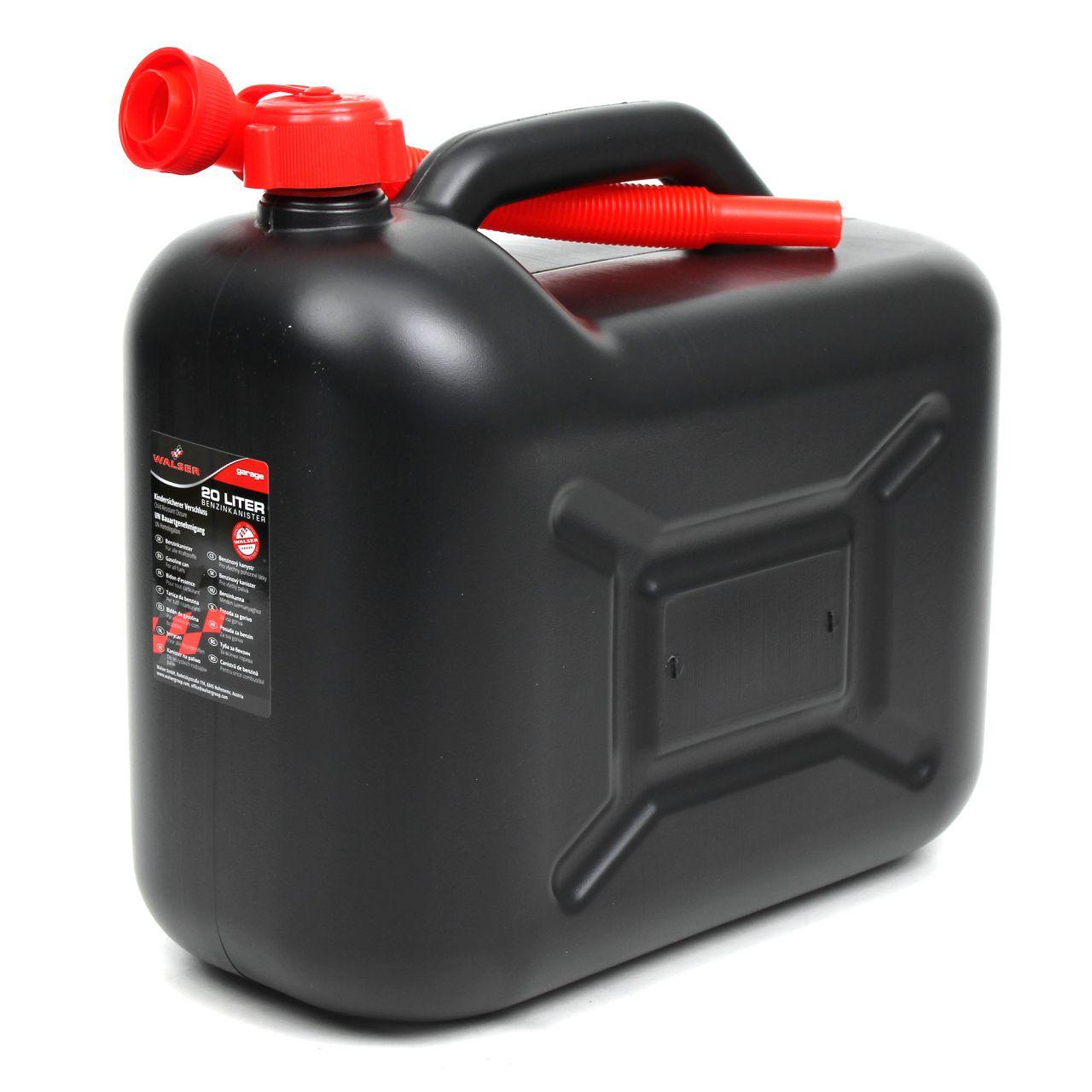 WALSER 16374 Kanister Benzinkanister Reservekanister Kraftstoffkanister 20Liter