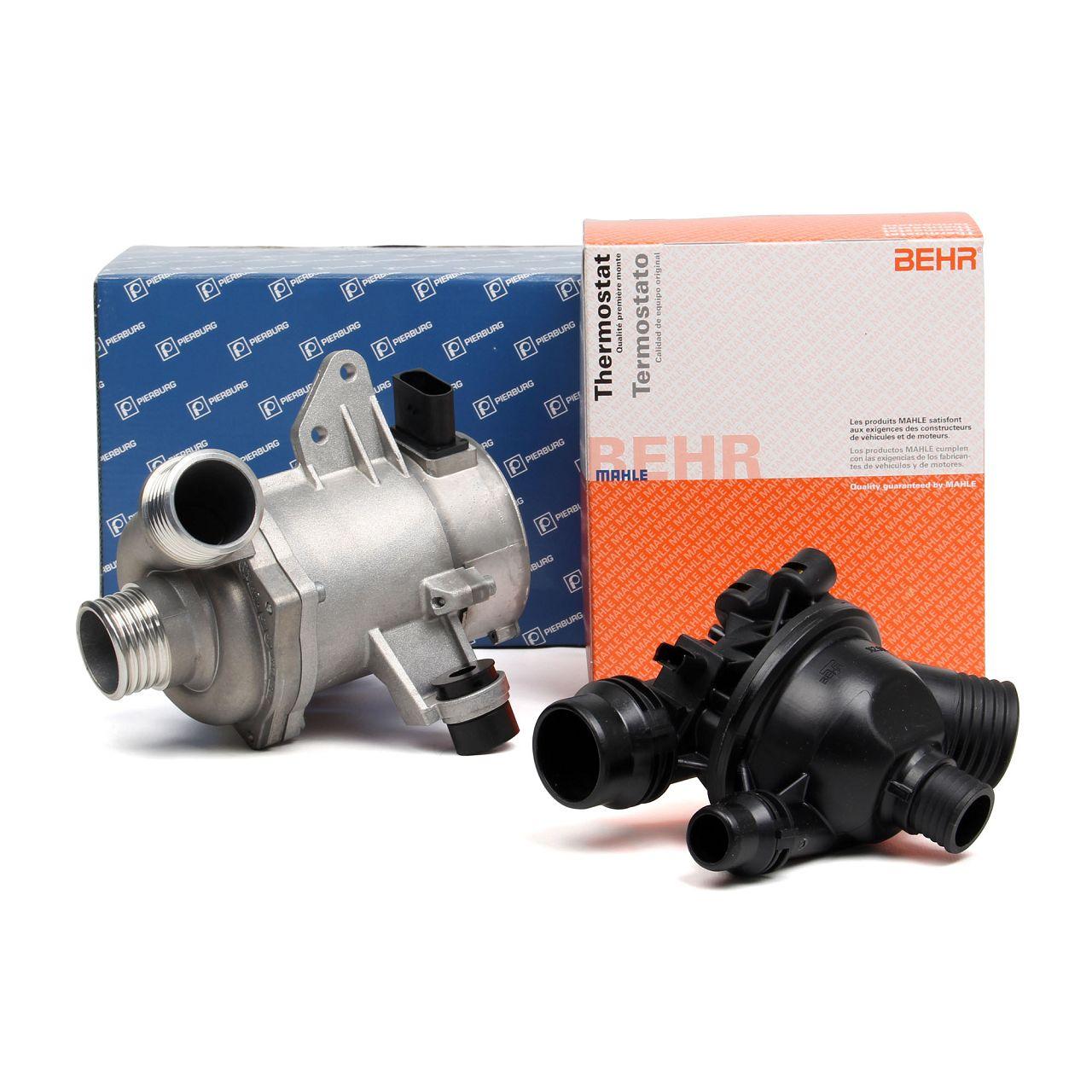 PIERBURG Wasserpumpe + BEHR / MAHLE Thermostat für BMW E81-88 E90-93 E60 E61