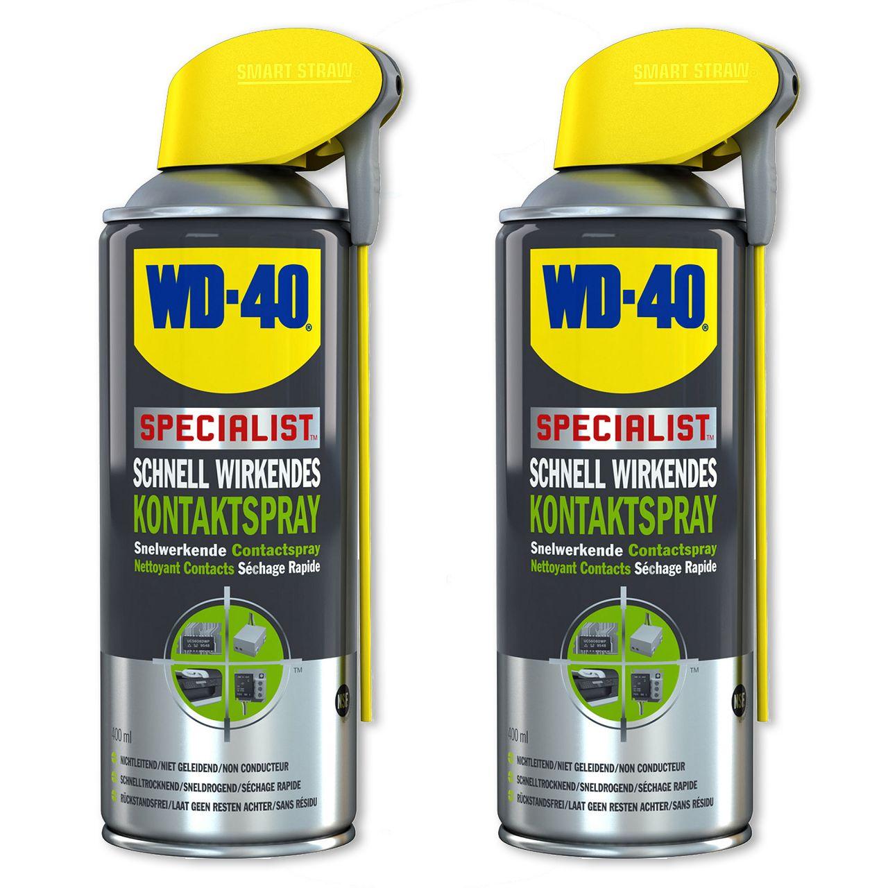 WD-40 SPECIALIST 49368 Kontaktspray Kontaktreiniger Elektronikspray 2x 400ml