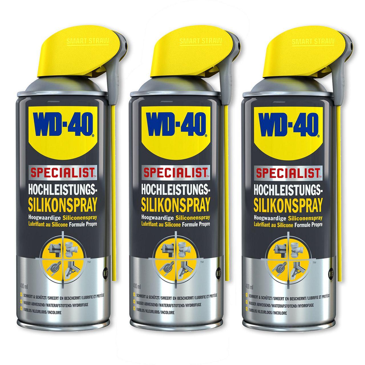 WD-40 SPECIALIST 49377 Silikonspray Hochleistungssilikonspray 3x 400ml