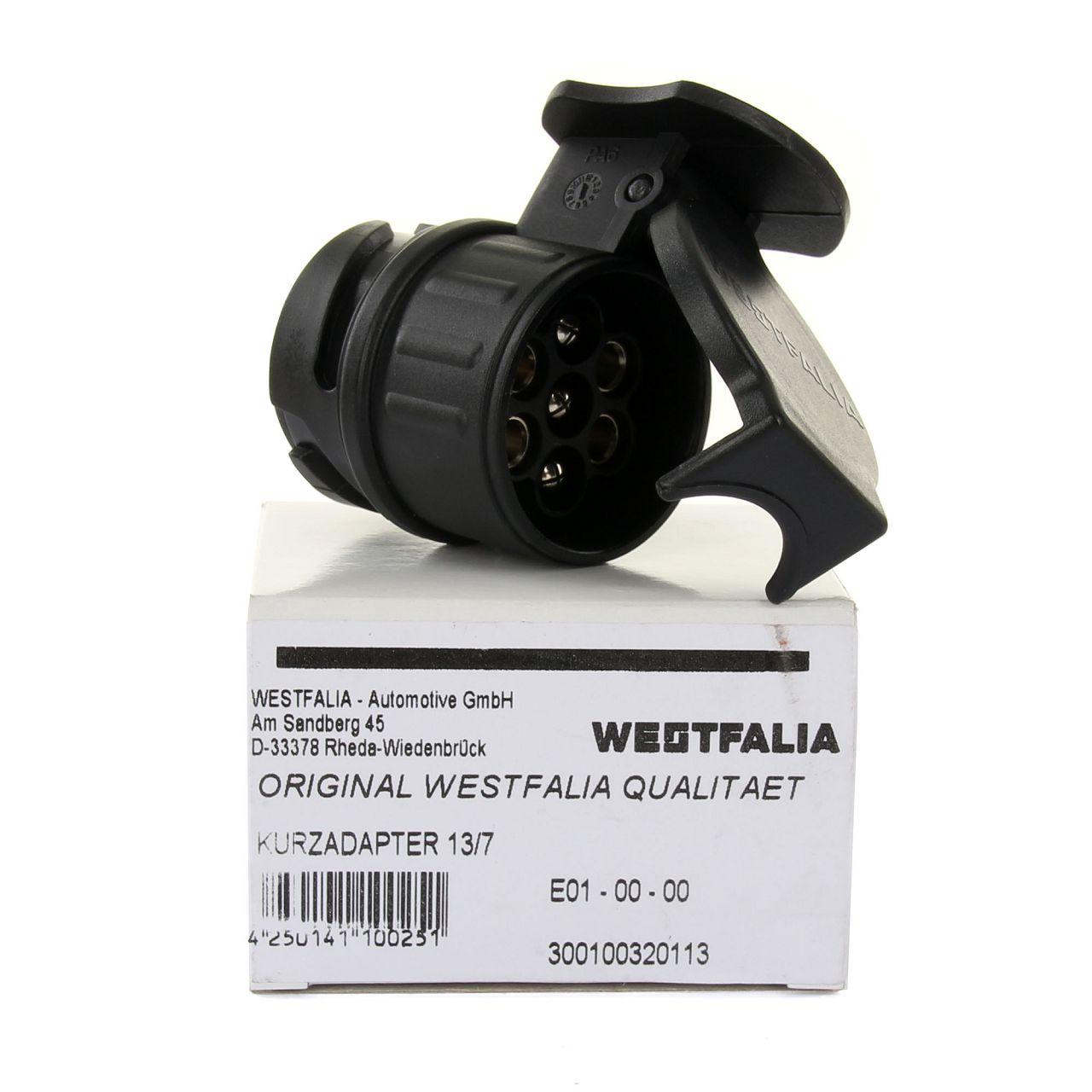 WESTFALIA Adapter Kurzadapter Anhängerkupplung Steckdose 13/7-polig 300100320113