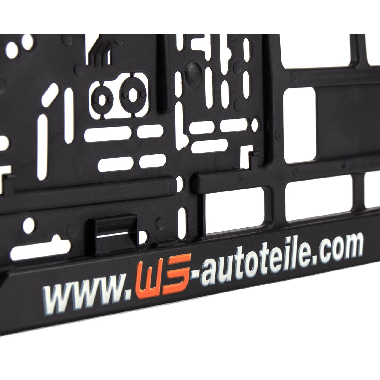 2x WS-AUTOTEILE Kennzeichenhalter Nummernschildhalter 53x14cm SCHWARZ