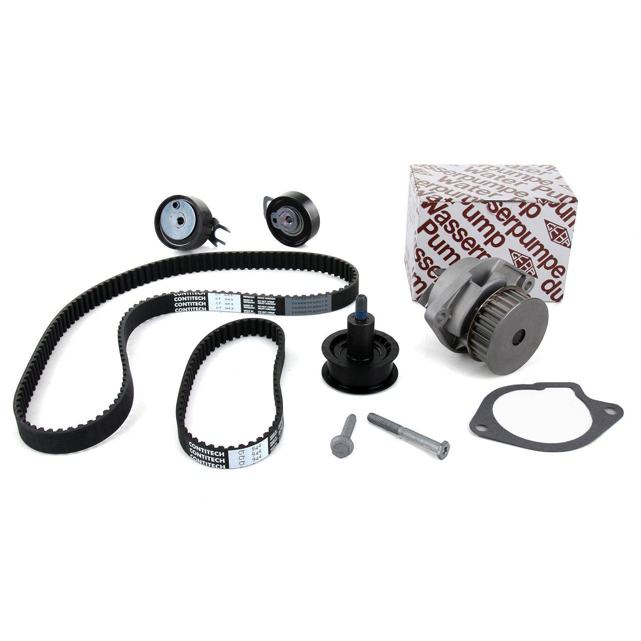 Zahnriemensatz 036198119C + GEBA Wasserpumpe 036121008MX SEAT SKODA VW 1.4 16V