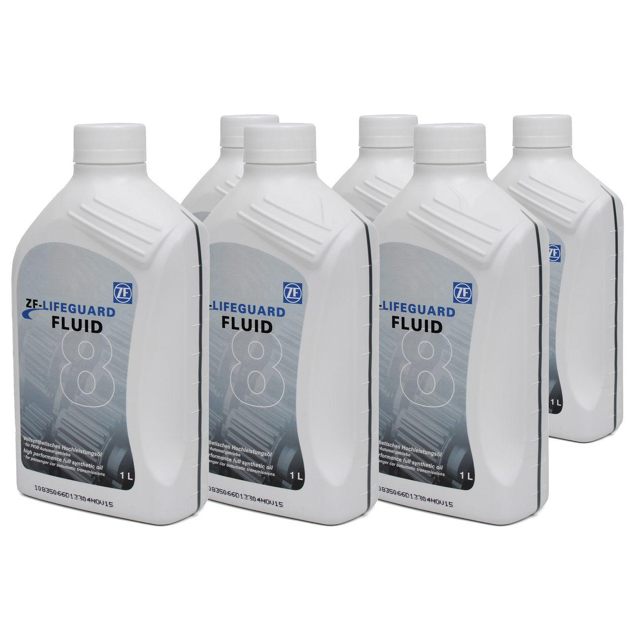 6x 1 Liter ZF PARTS Getriebeöl Automatikgetriebeöl LifeGuard FLUID 8 HP